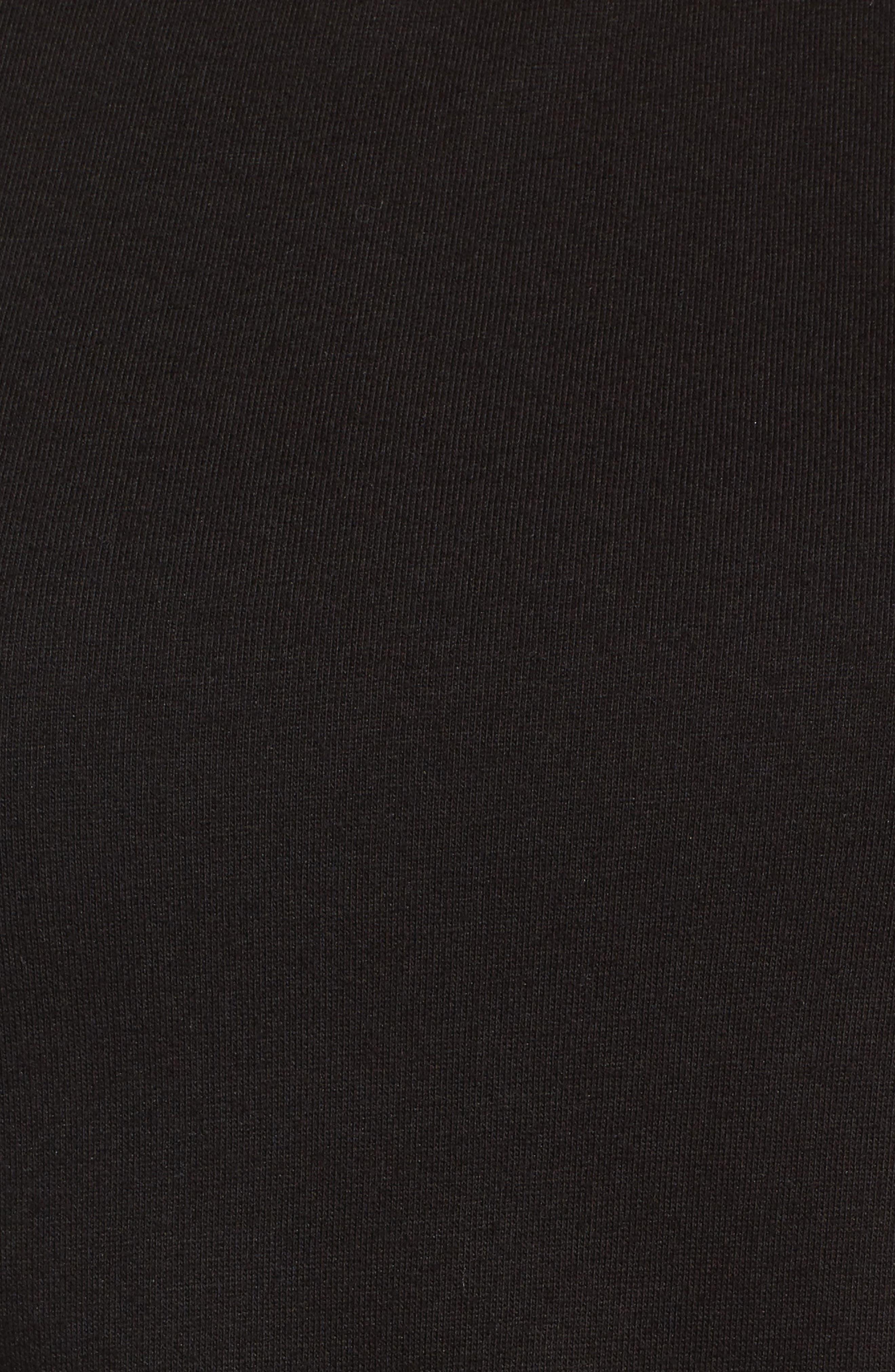 Twist Front Dress,                             Alternate thumbnail 6, color,                             BLACK