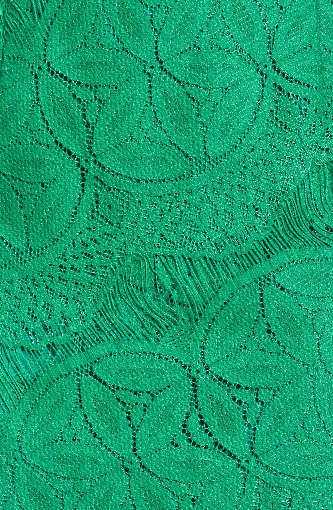 Lace High/Low Sheath Dress,                             Alternate thumbnail 21, color,