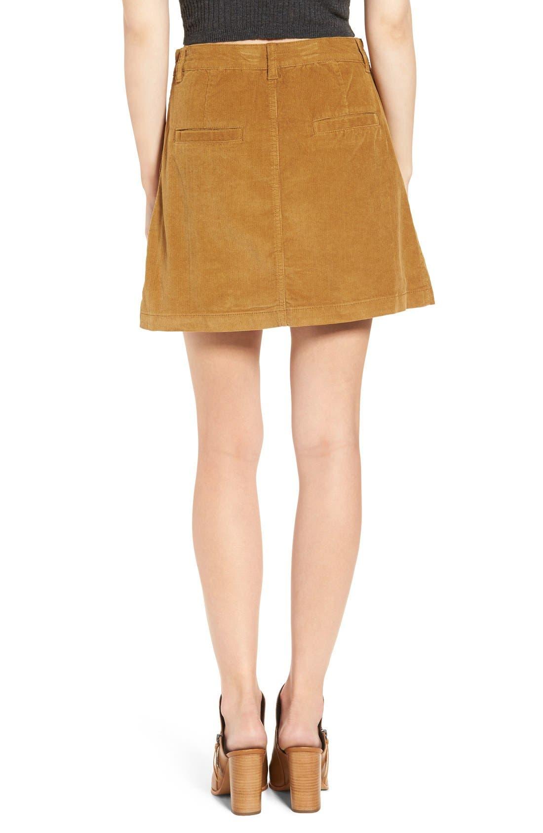 A-Line Corduroy Skirt,                             Alternate thumbnail 2, color,