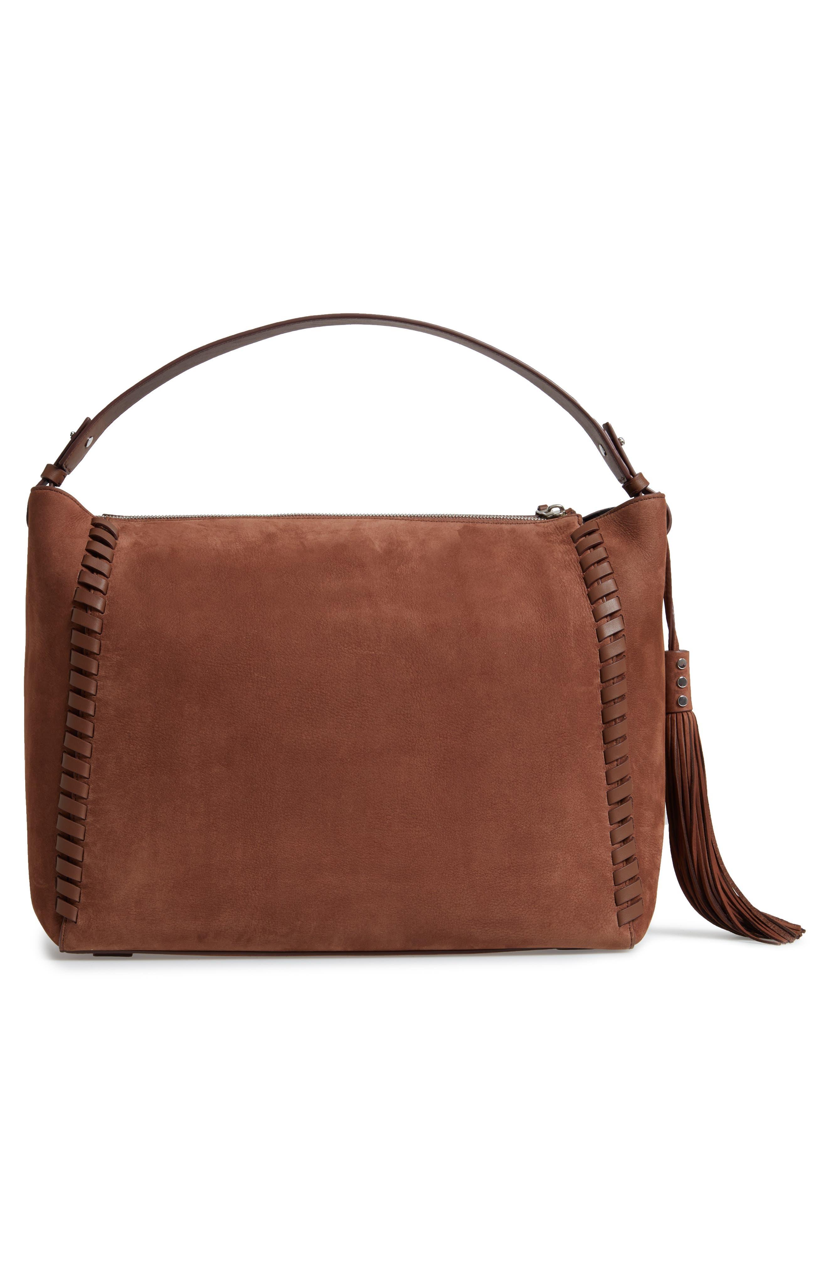 Kepi East/West Leather Shoulder Bag,                             Alternate thumbnail 3, color,                             210