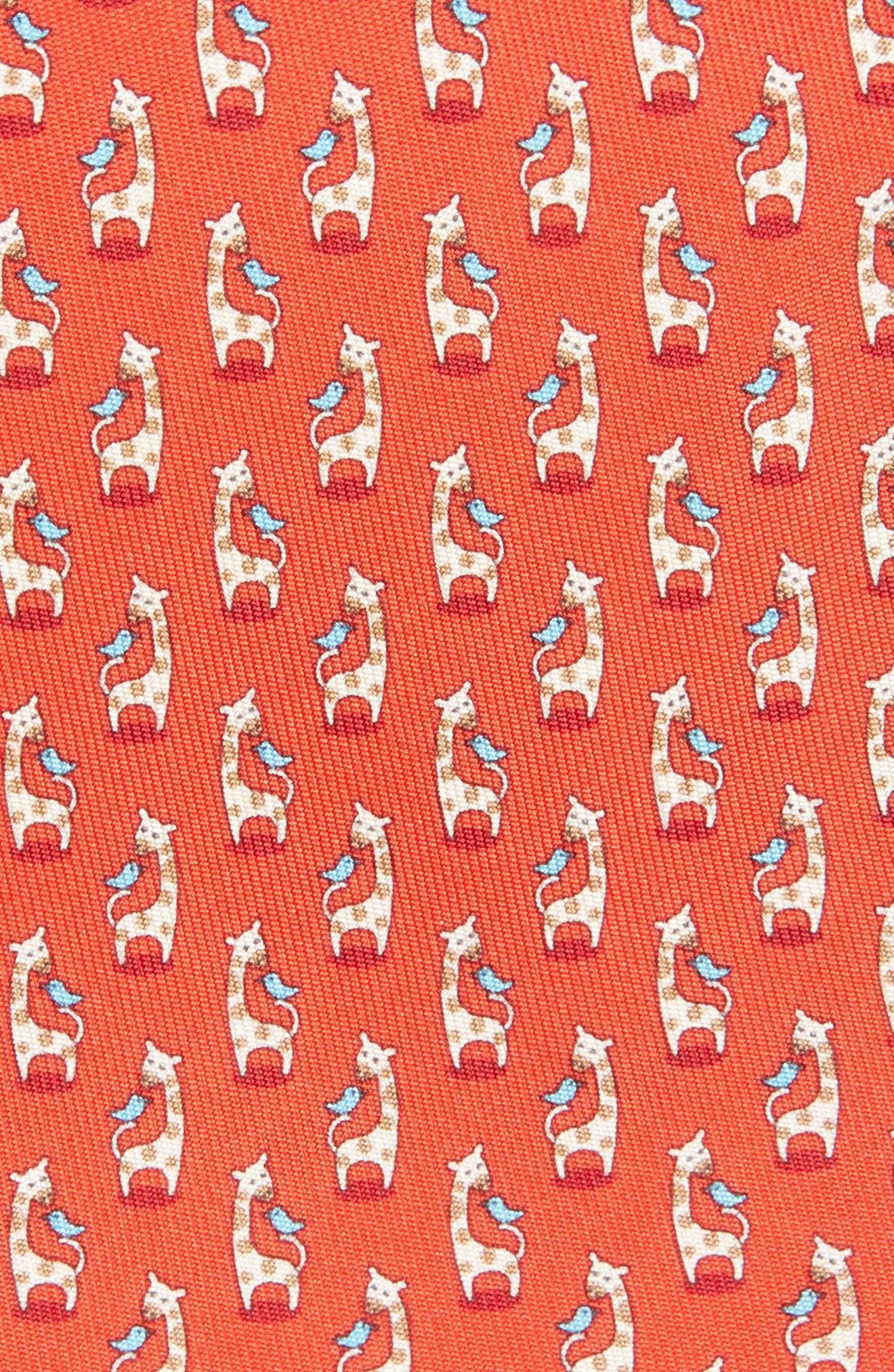 Giraffe Silk Tie,                             Alternate thumbnail 7, color,