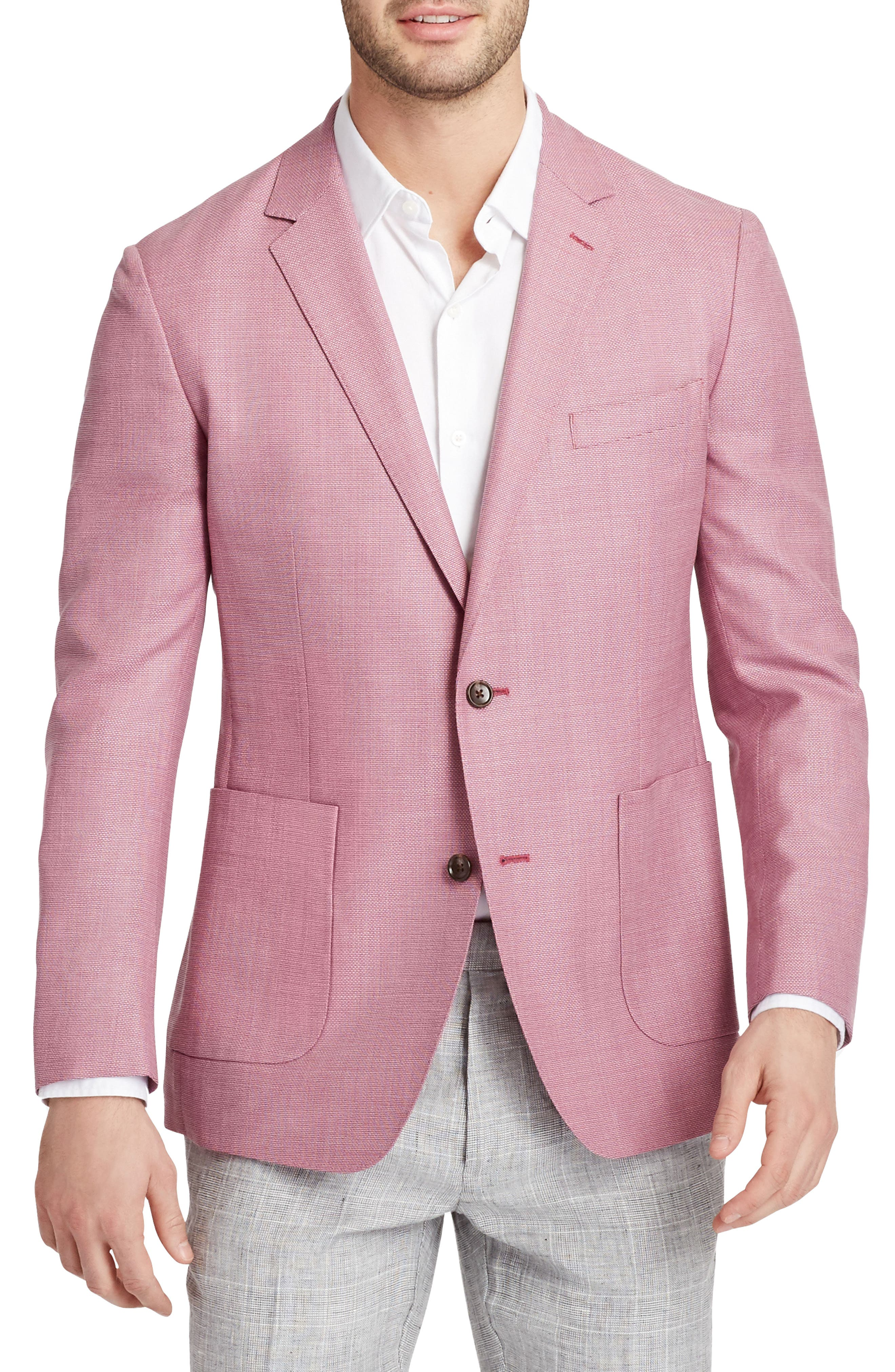 Trim Fit Wool Unconstructed Blazer,                             Main thumbnail 3, color,