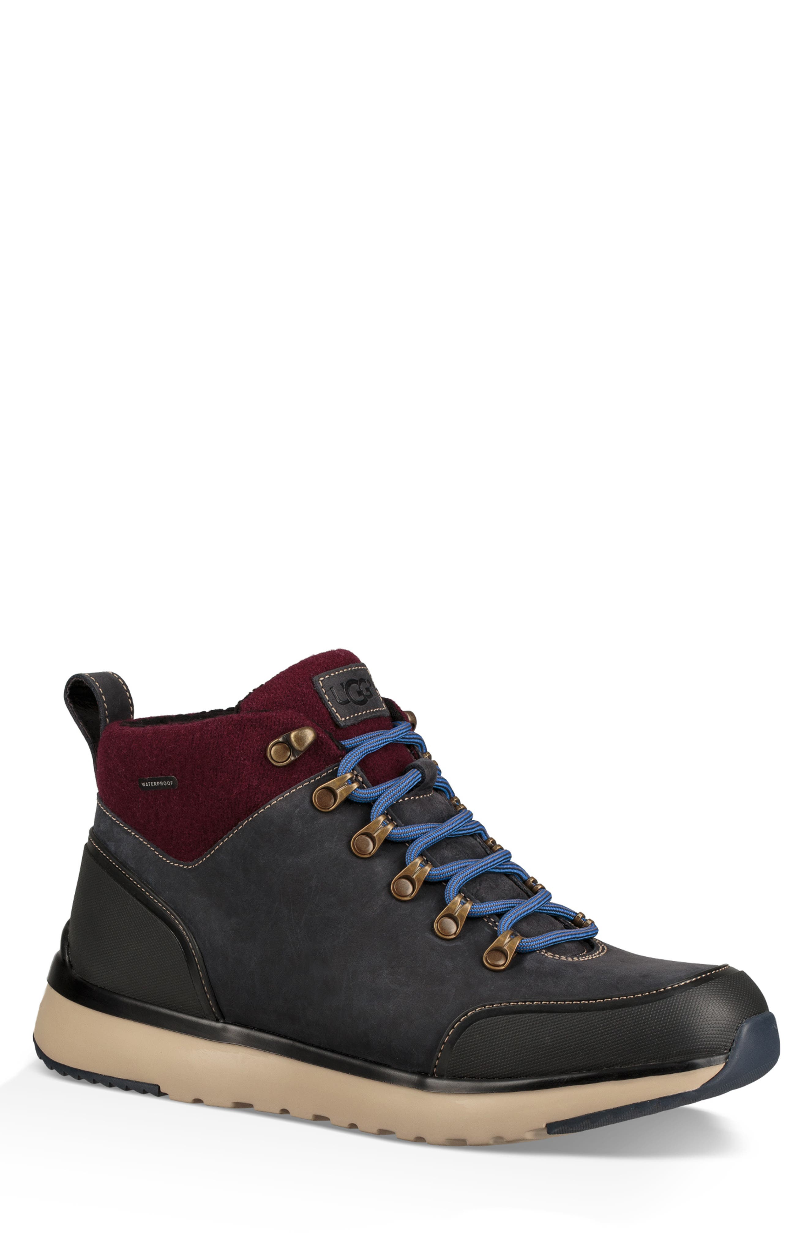 Olivert Hiking Waterproof Boot,                         Main,                         color, NAVY