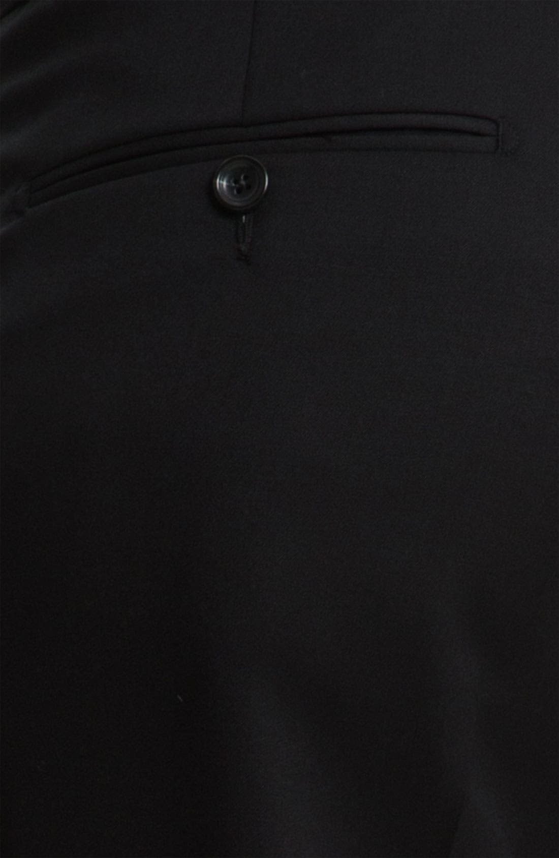 Drop 7 Trim Fit Wool Suit,                             Alternate thumbnail 2, color,                             001