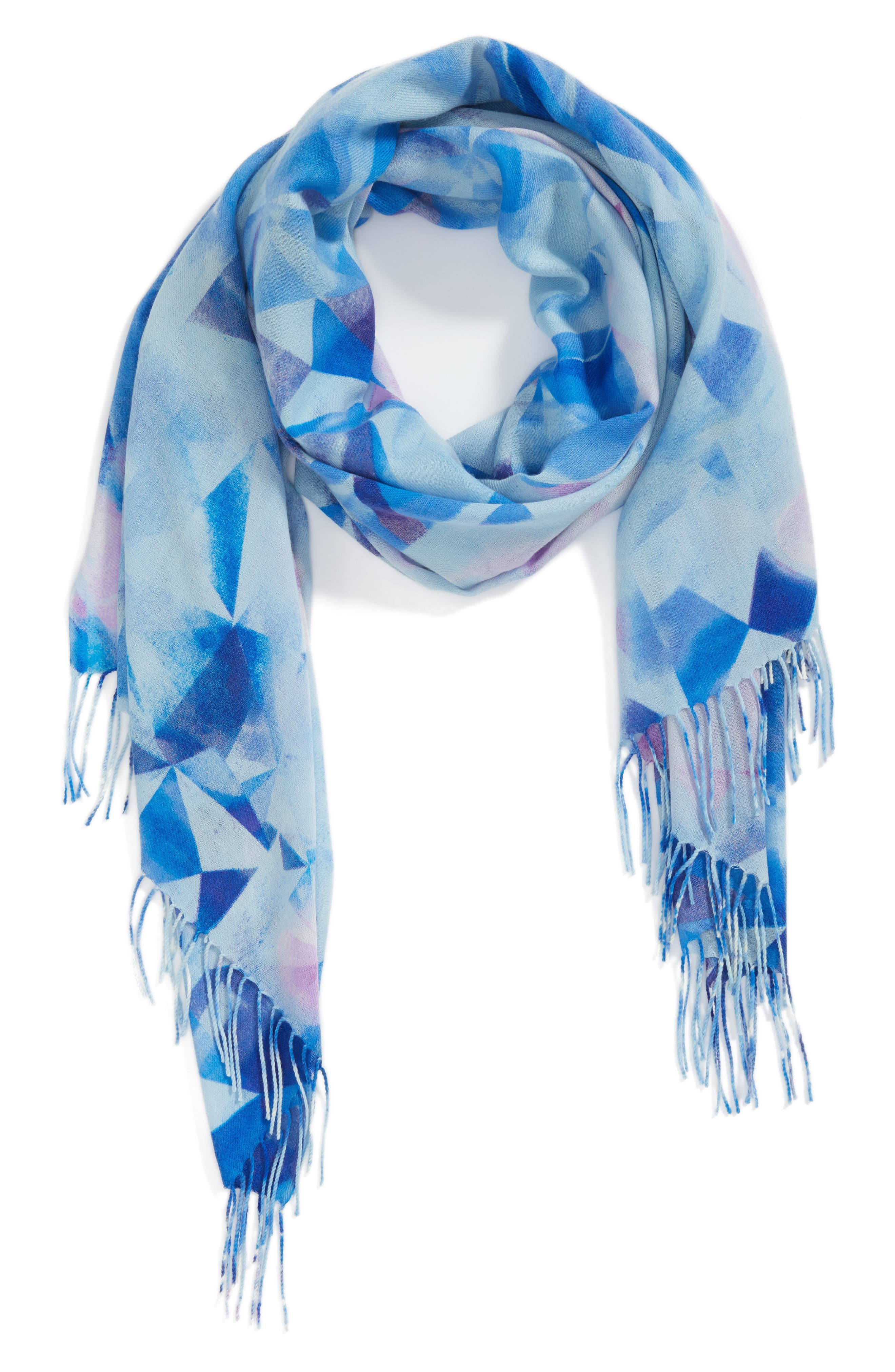 Tissue Print Wool & Cashmere Wrap Scarf,                             Alternate thumbnail 47, color,