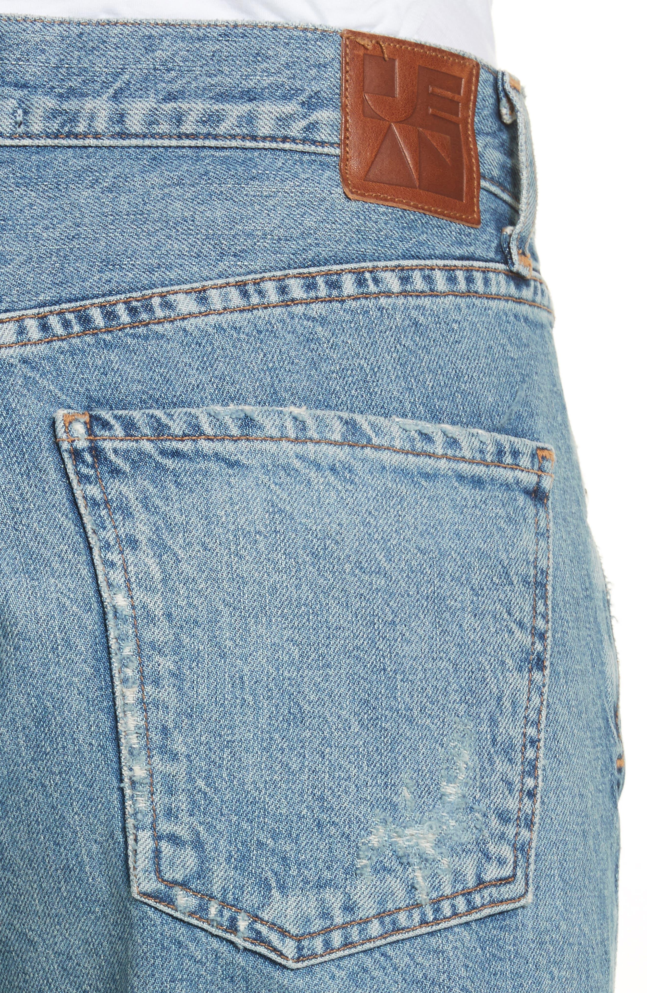 Laurent High Rise Distressed Boyfriend Jeans,                             Alternate thumbnail 4, color,                             VINTAGE