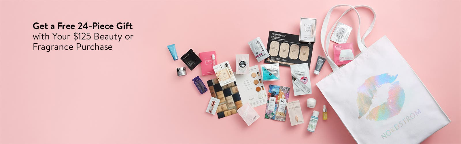 Free 24-piece gift with your $125 beauty or fragrance purchase.