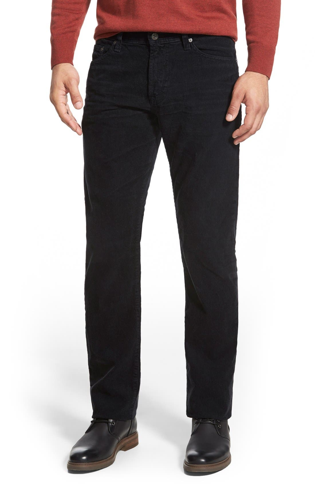 'Graduate' Tailored Straight Leg Corduroy Pants,                             Main thumbnail 4, color,