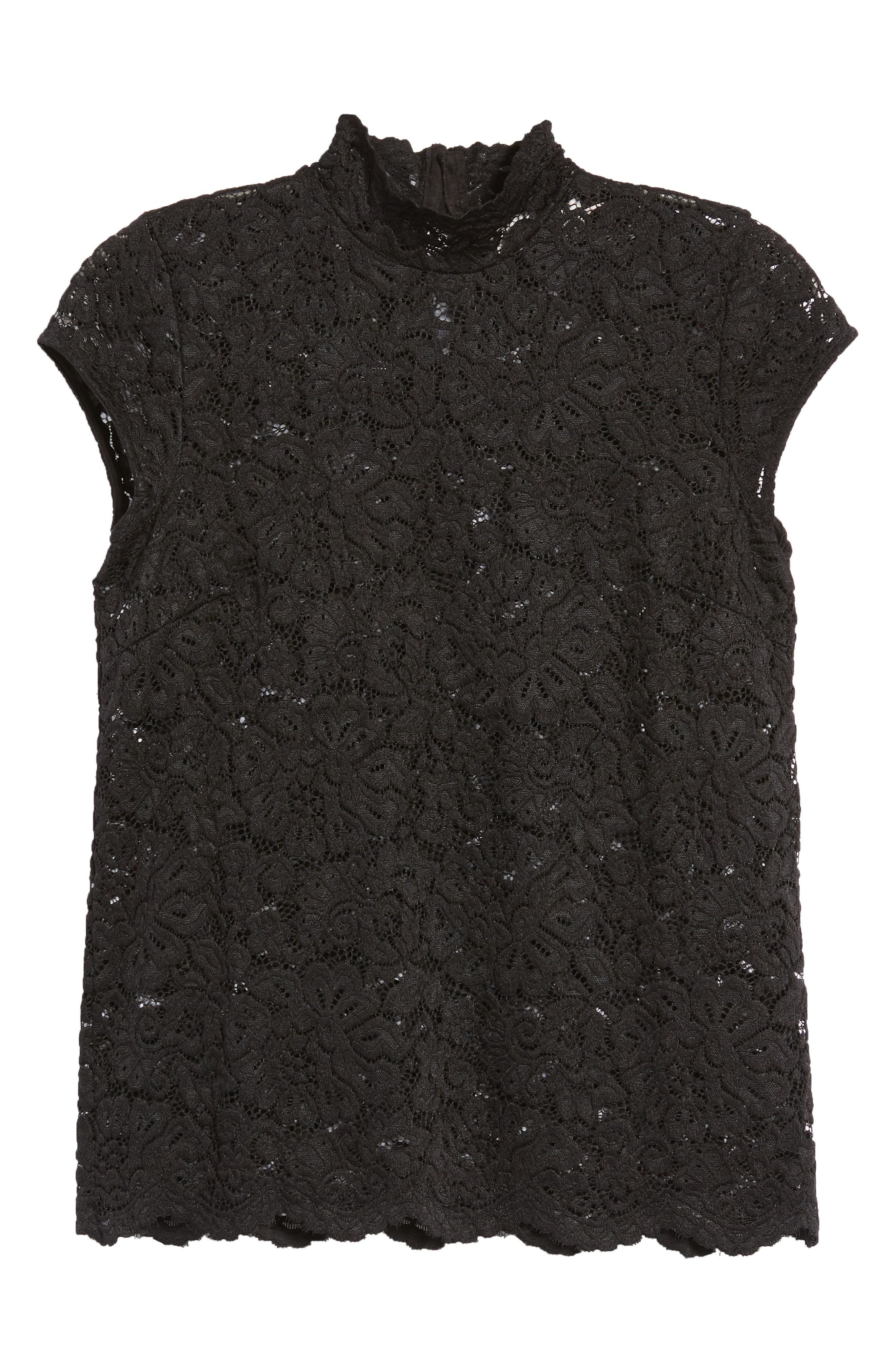Filippa Lace Cap Sleeve Top,                             Alternate thumbnail 7, color,