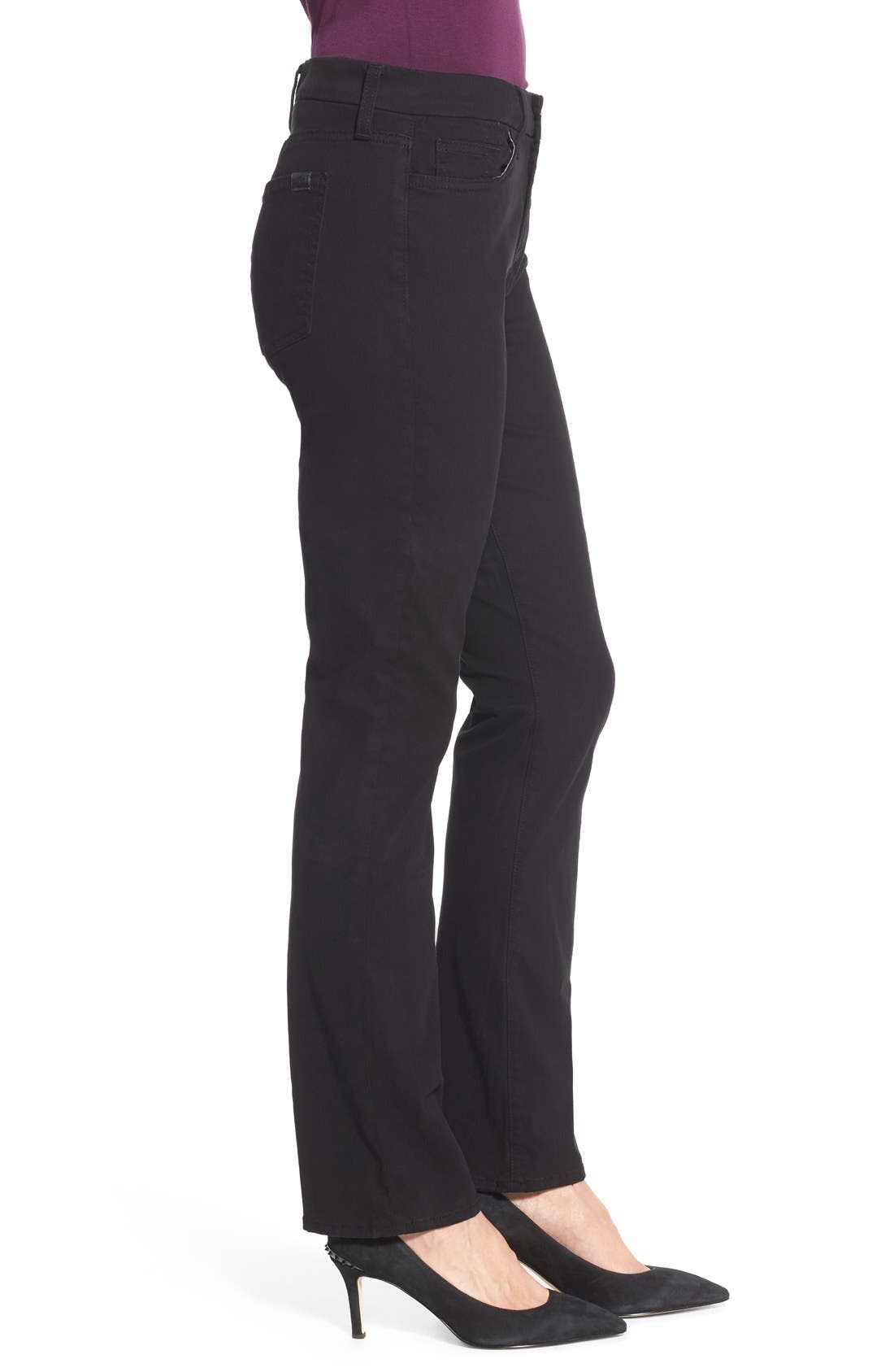 Stretch Sateen Slim Straight Leg Pants,                             Alternate thumbnail 3, color,                             004