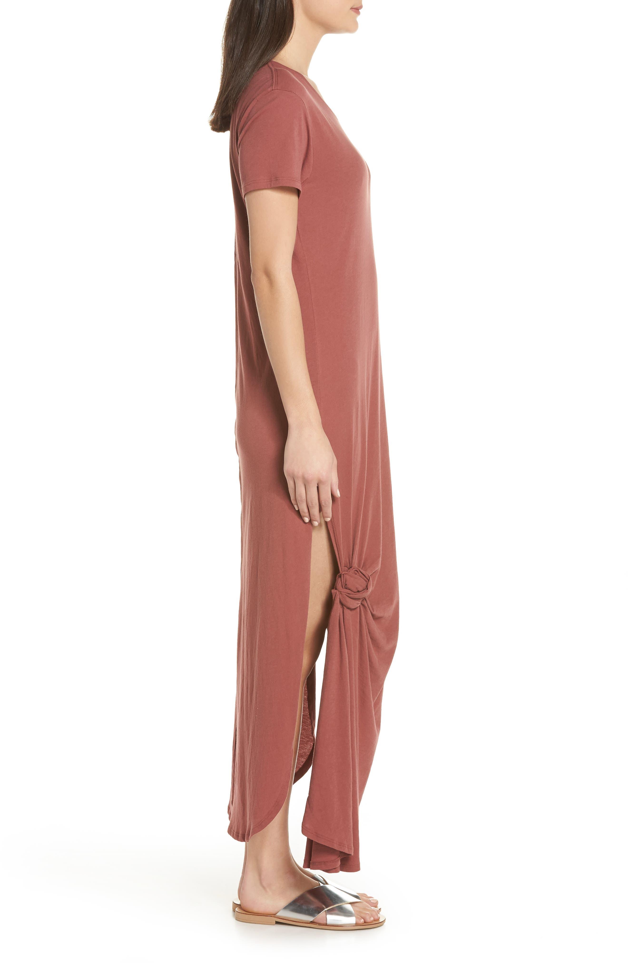 Jones Cover-Up Dress,                             Alternate thumbnail 3, color,                             VINTAGE BERRY