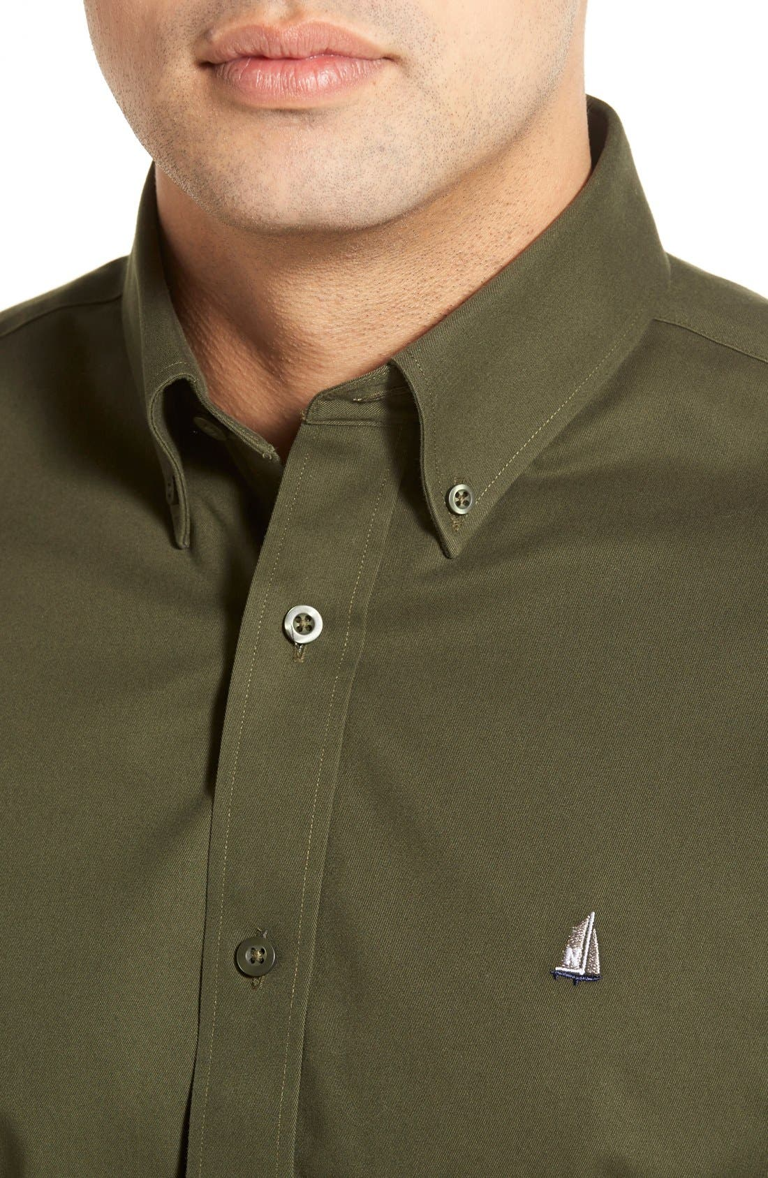 Smartcare<sup>™</sup> Traditional Fit Twill Boat Shirt,                             Alternate thumbnail 118, color,