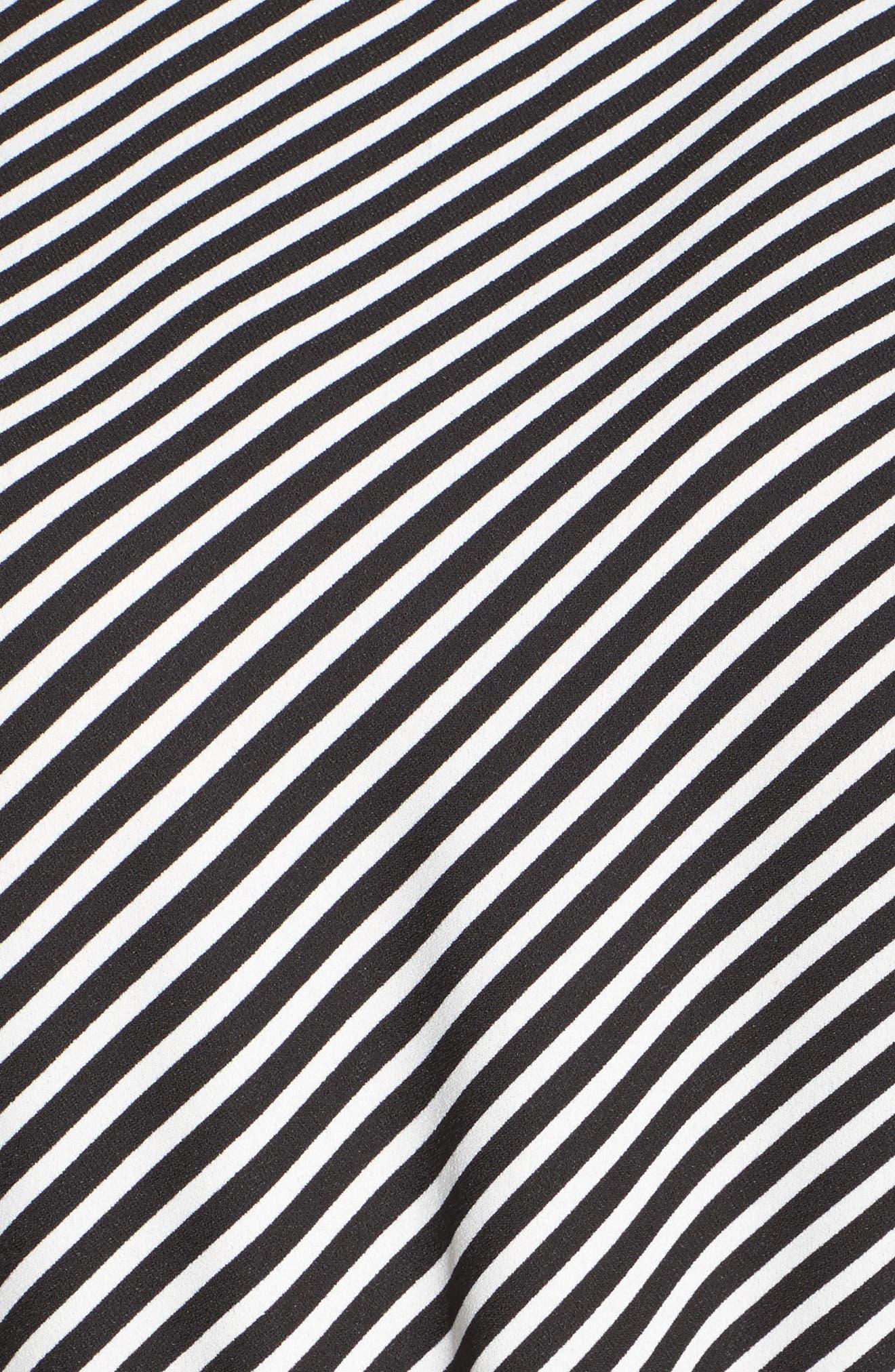 Diagonal Stripe Belted Jumpsuit,                             Alternate thumbnail 5, color,                             006