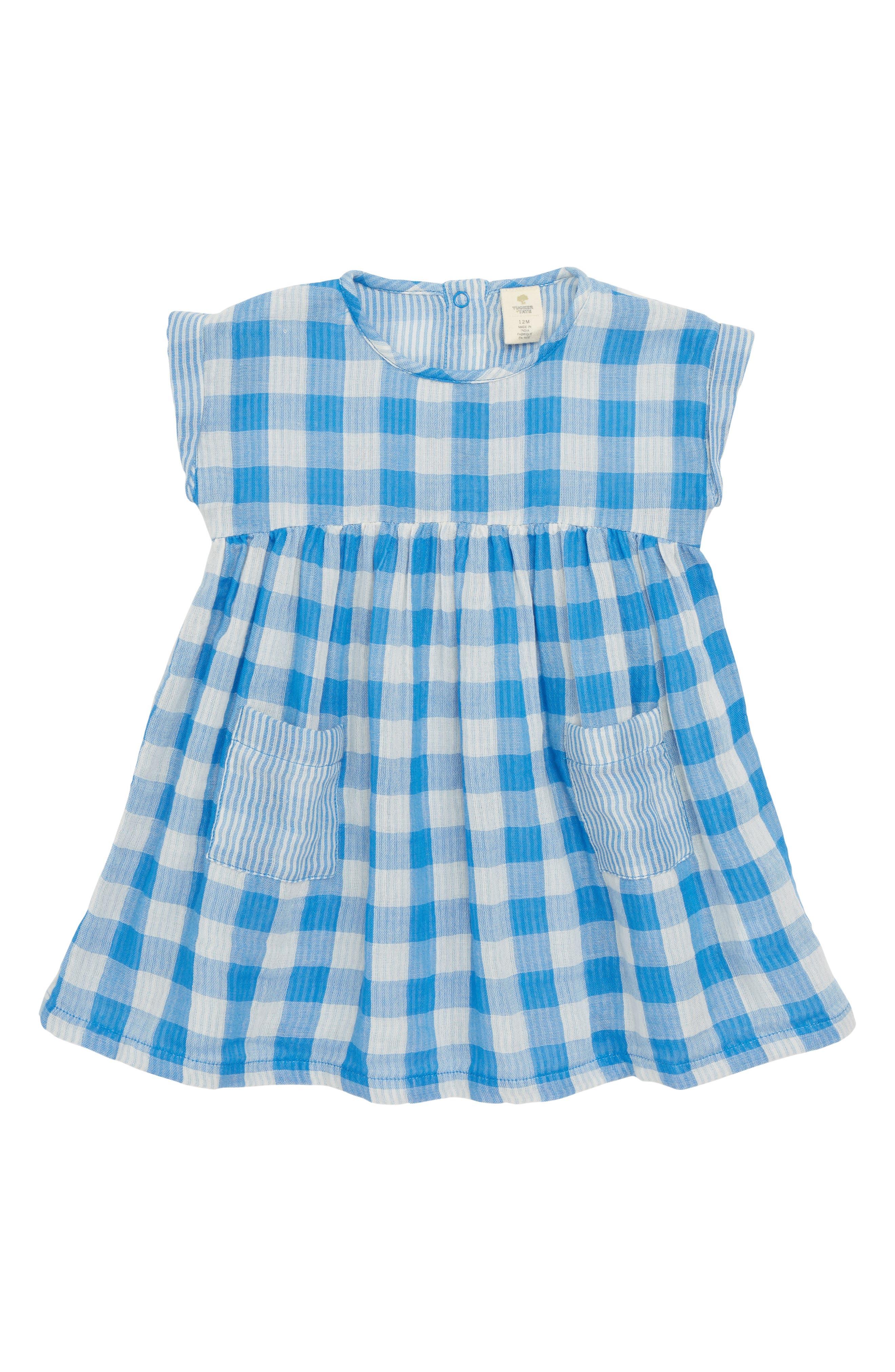 Gingham Woven Dress,                             Main thumbnail 1, color,                             420
