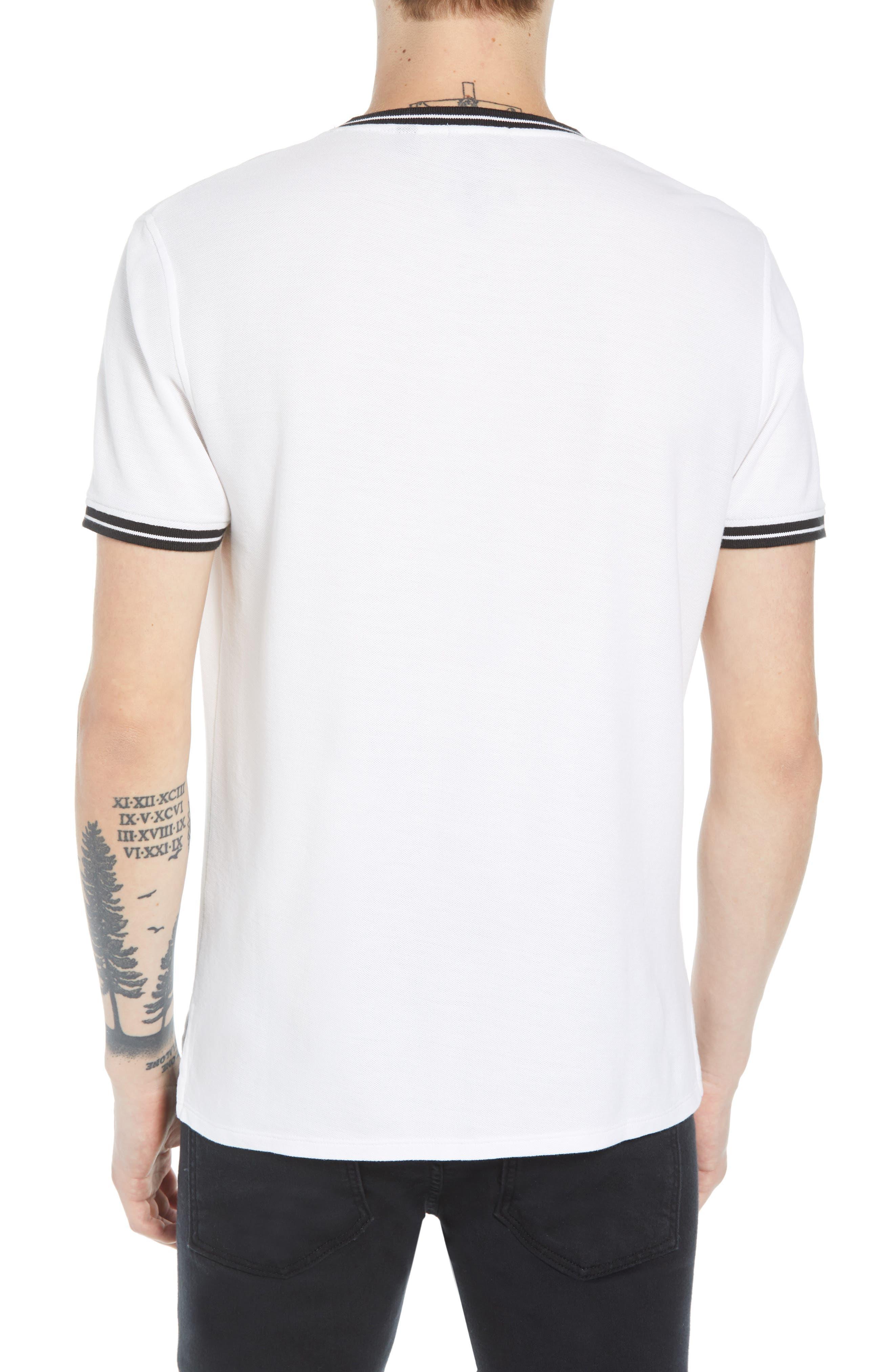 Pique Crewneck T-shirt,                             Alternate thumbnail 2, color,