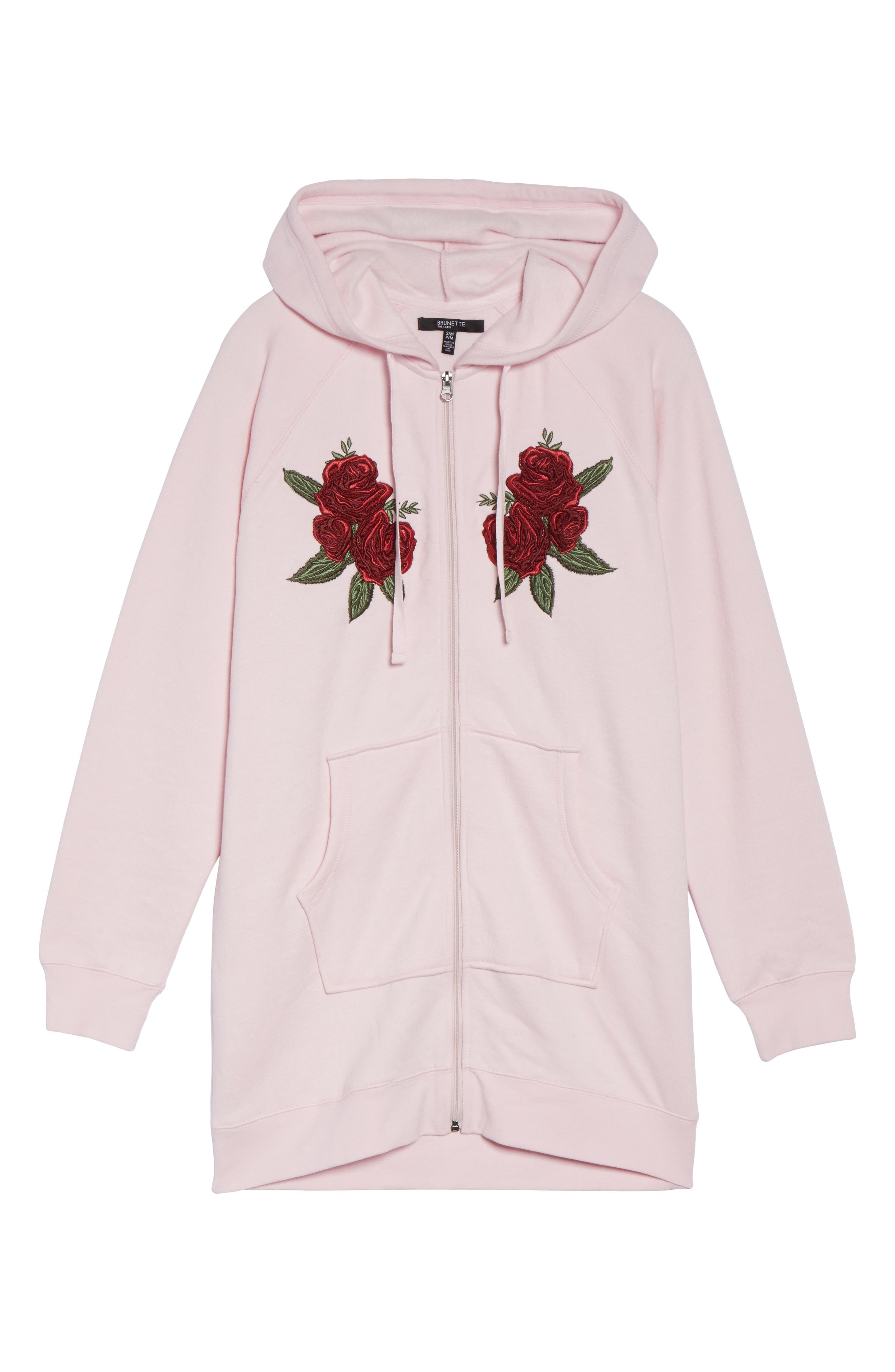 Blonde Embroidered Zip Hoodie,                             Alternate thumbnail 6, color,                             650