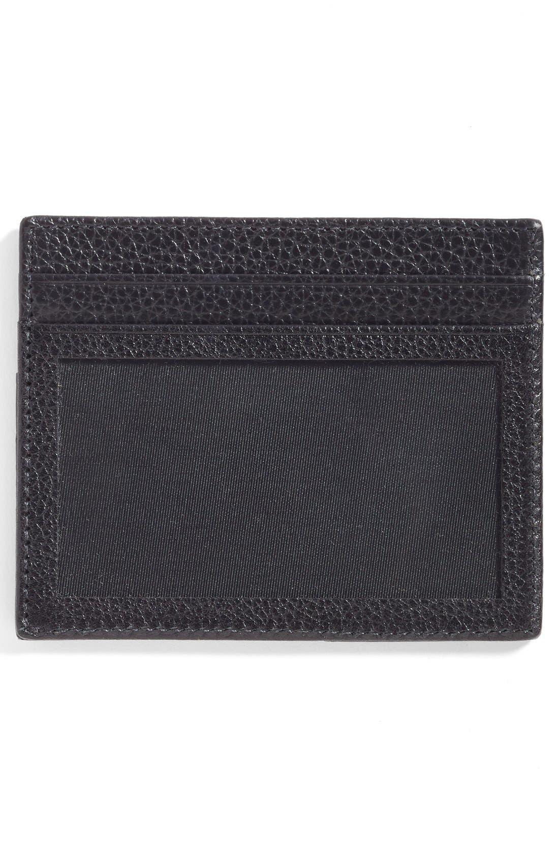 Executive Leather Card Case,                             Alternate thumbnail 3, color,                             001