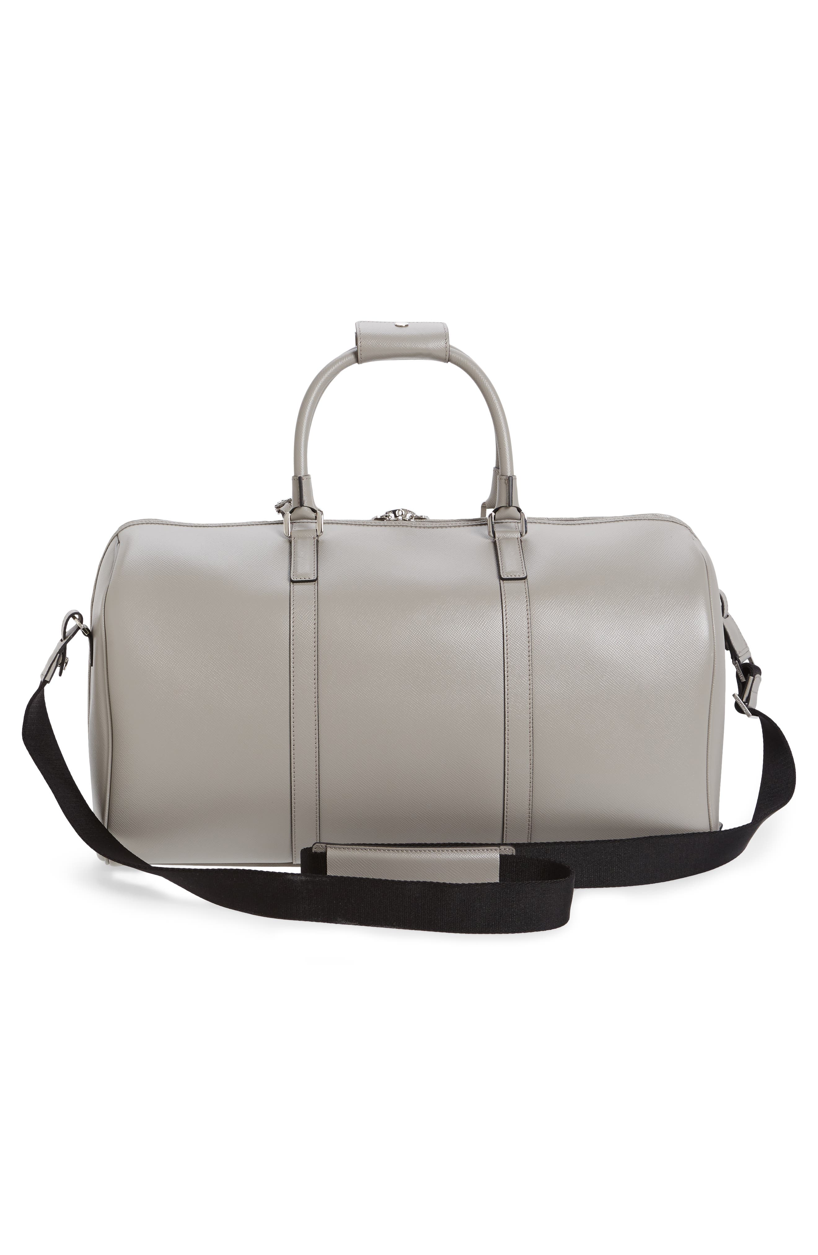 Small Evolution Leather Duffel Bag,                             Alternate thumbnail 9, color,