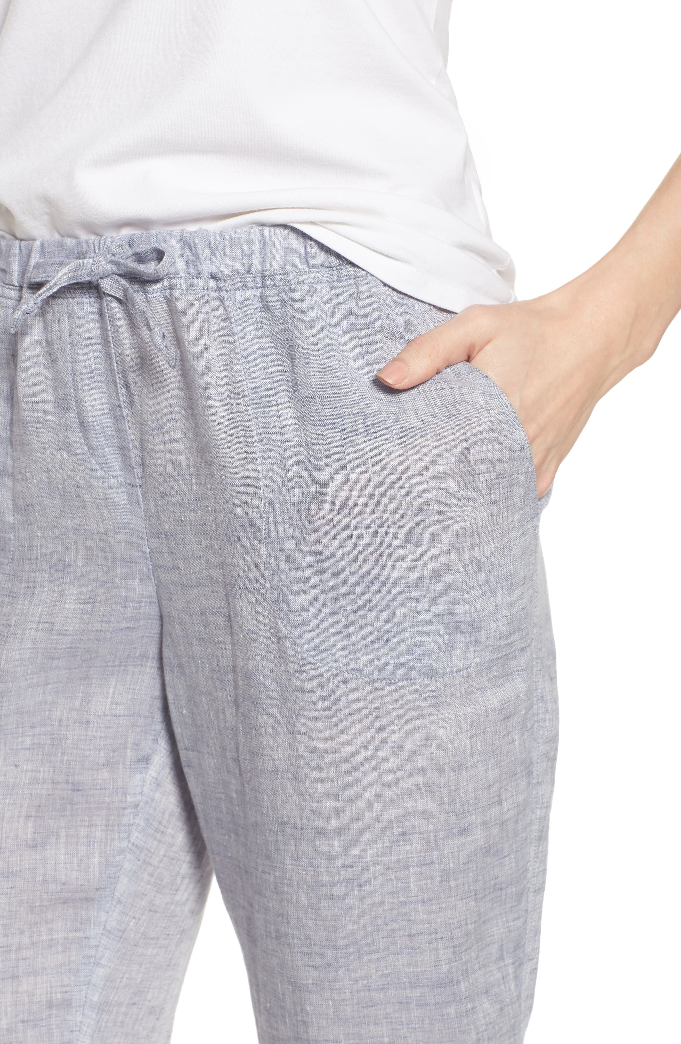 Laid Back Linen Pants,                             Alternate thumbnail 4, color,                             420