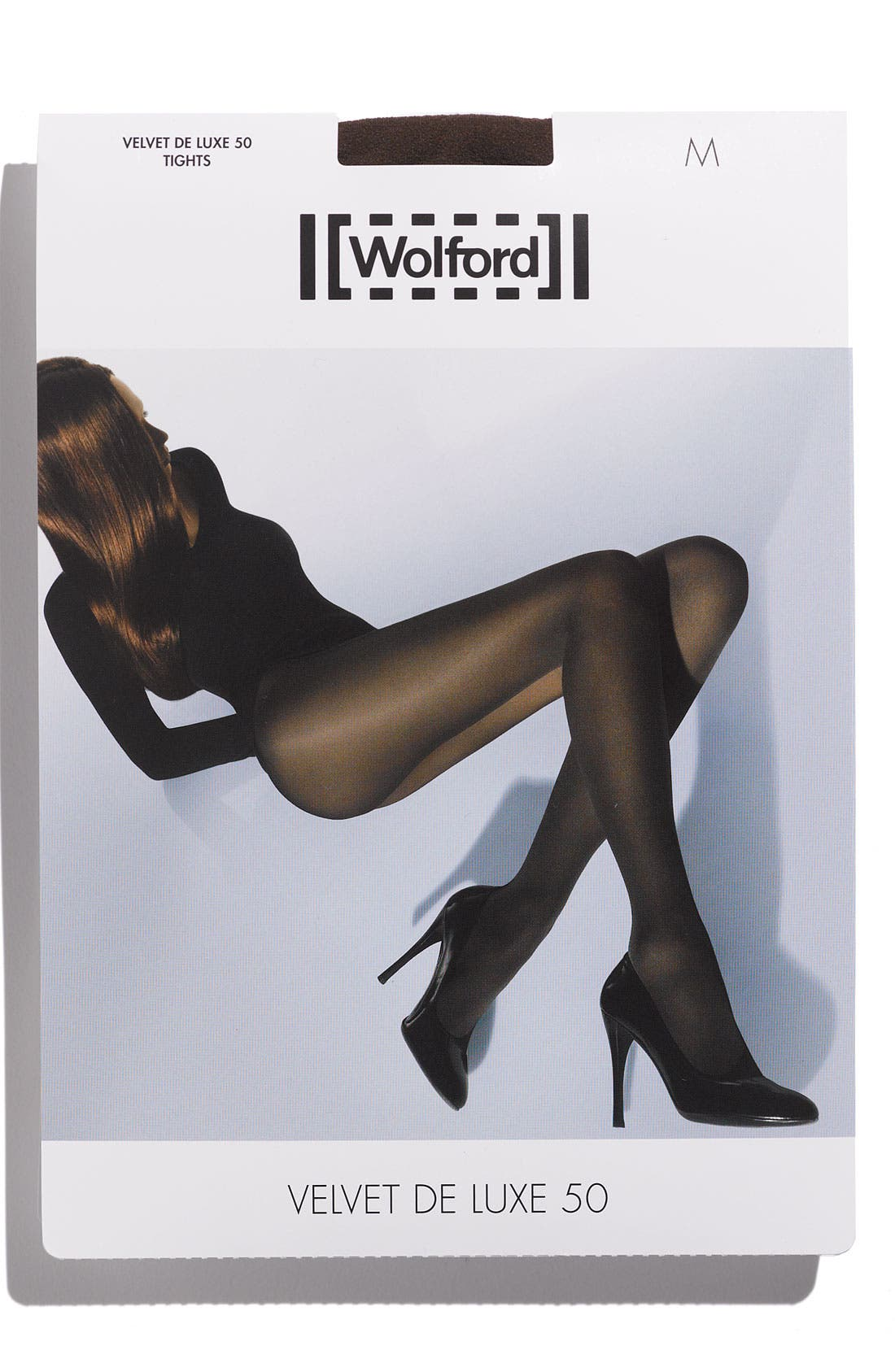WOLFORD,                             'Velvet de Luxe' Semi-Opaque Tights,                             Alternate thumbnail 2, color,                             001