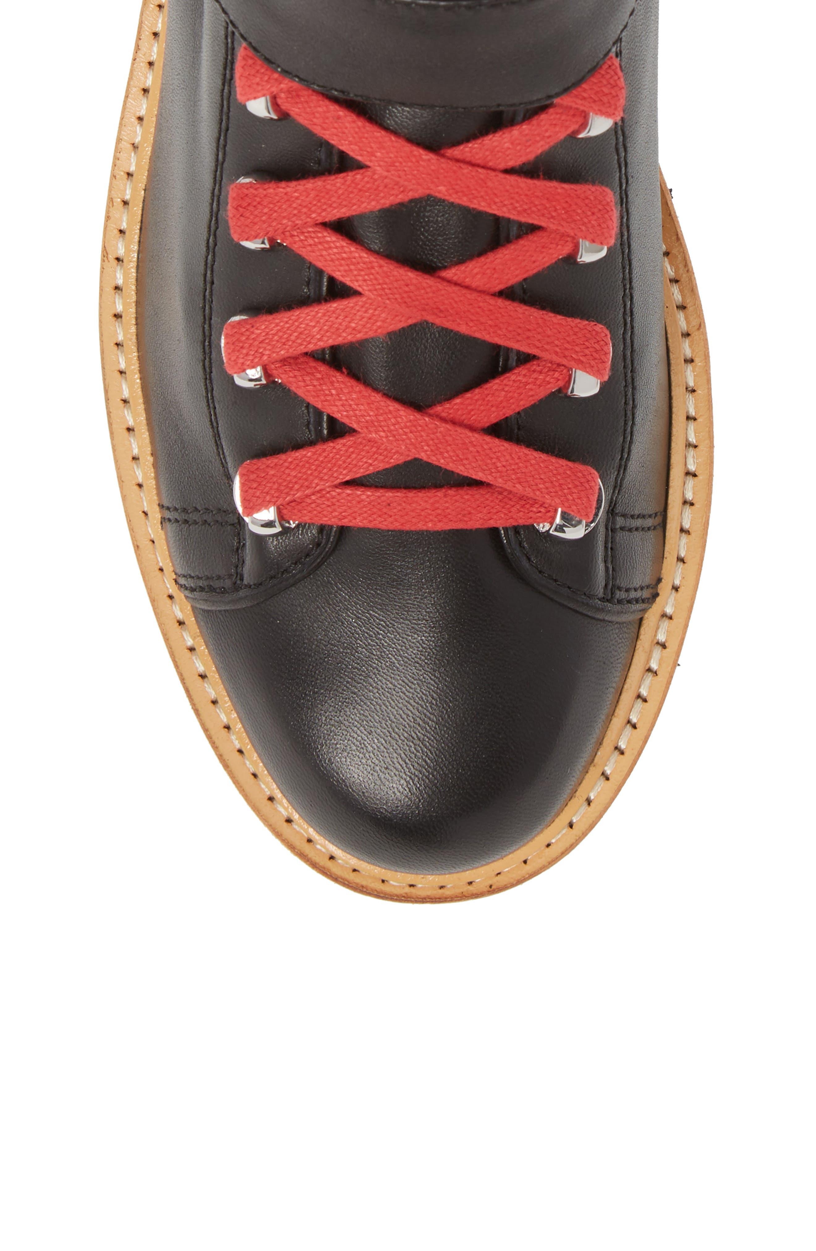 Indre Platform Boot,                             Alternate thumbnail 5, color,                             BLACK LEATHER