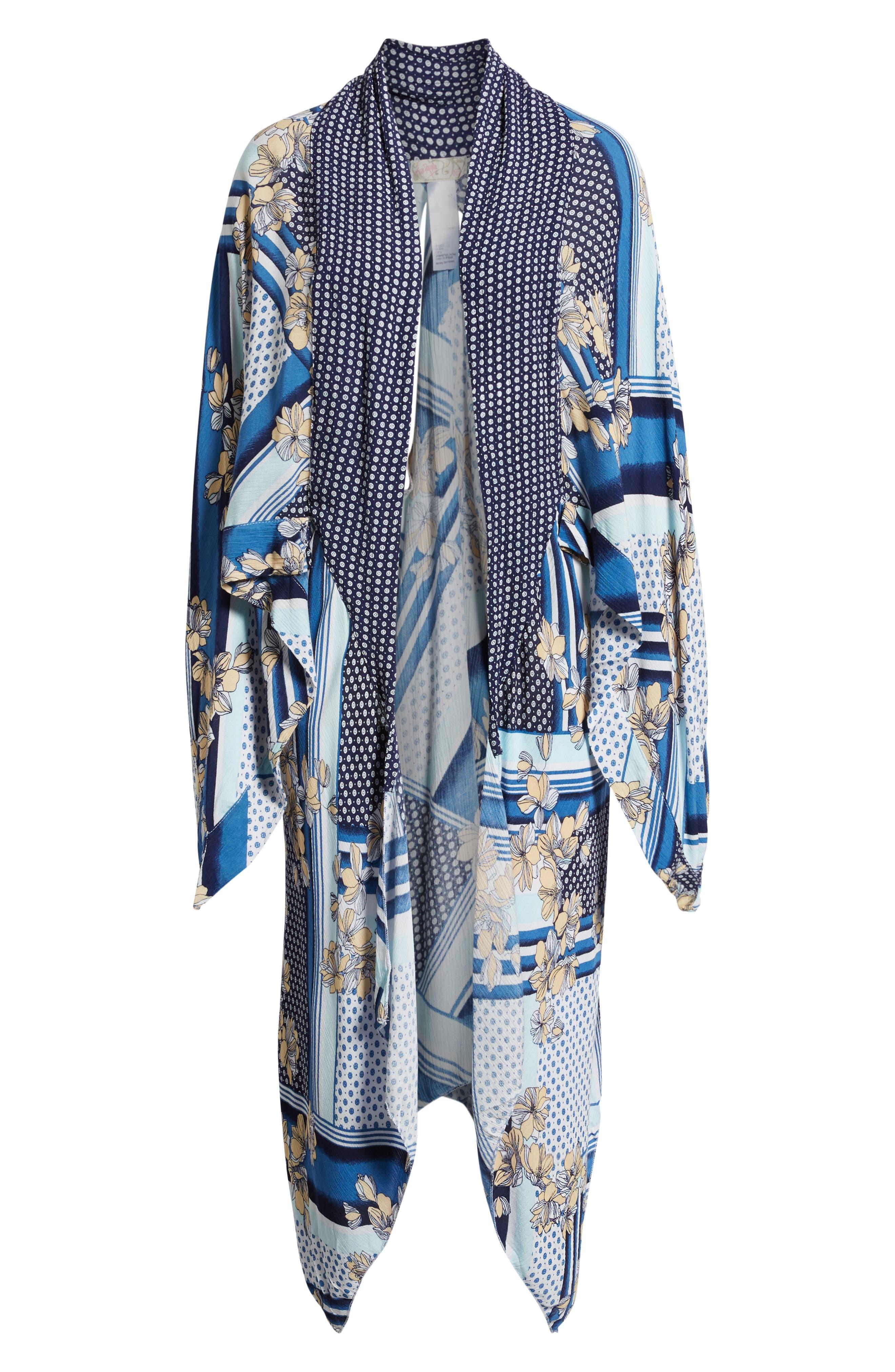 Morning Glory Kimono,                             Alternate thumbnail 6, color,                             MULTI