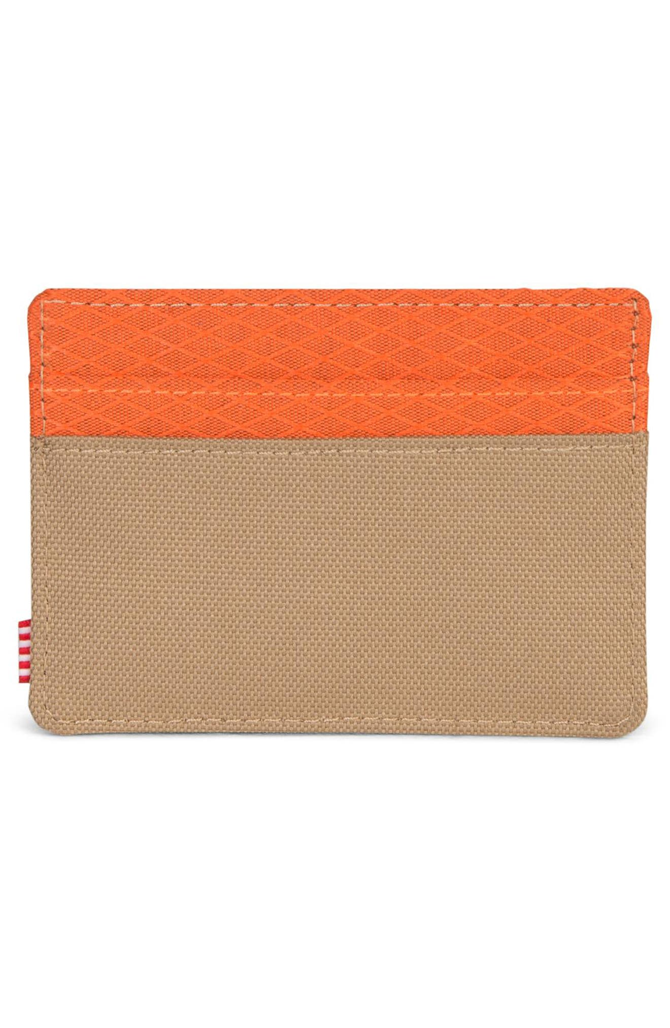 Charlie Card Case,                             Alternate thumbnail 2, color,                             KELP/ VERMILLION ORANGE