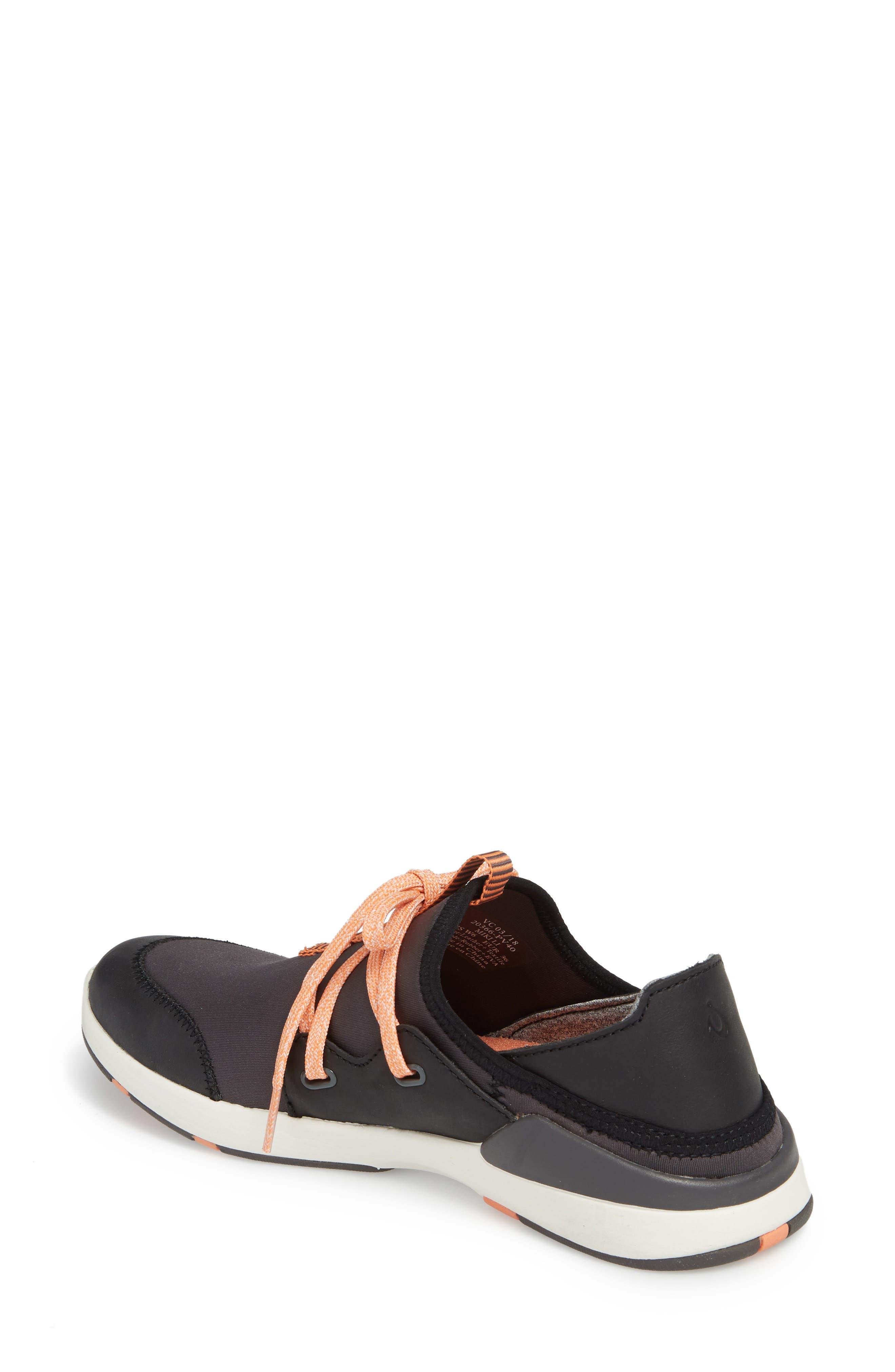 Miki Li Convertible Sneaker,                             Alternate thumbnail 2, color,                             PAVEMENT/ BLACK FABRIC