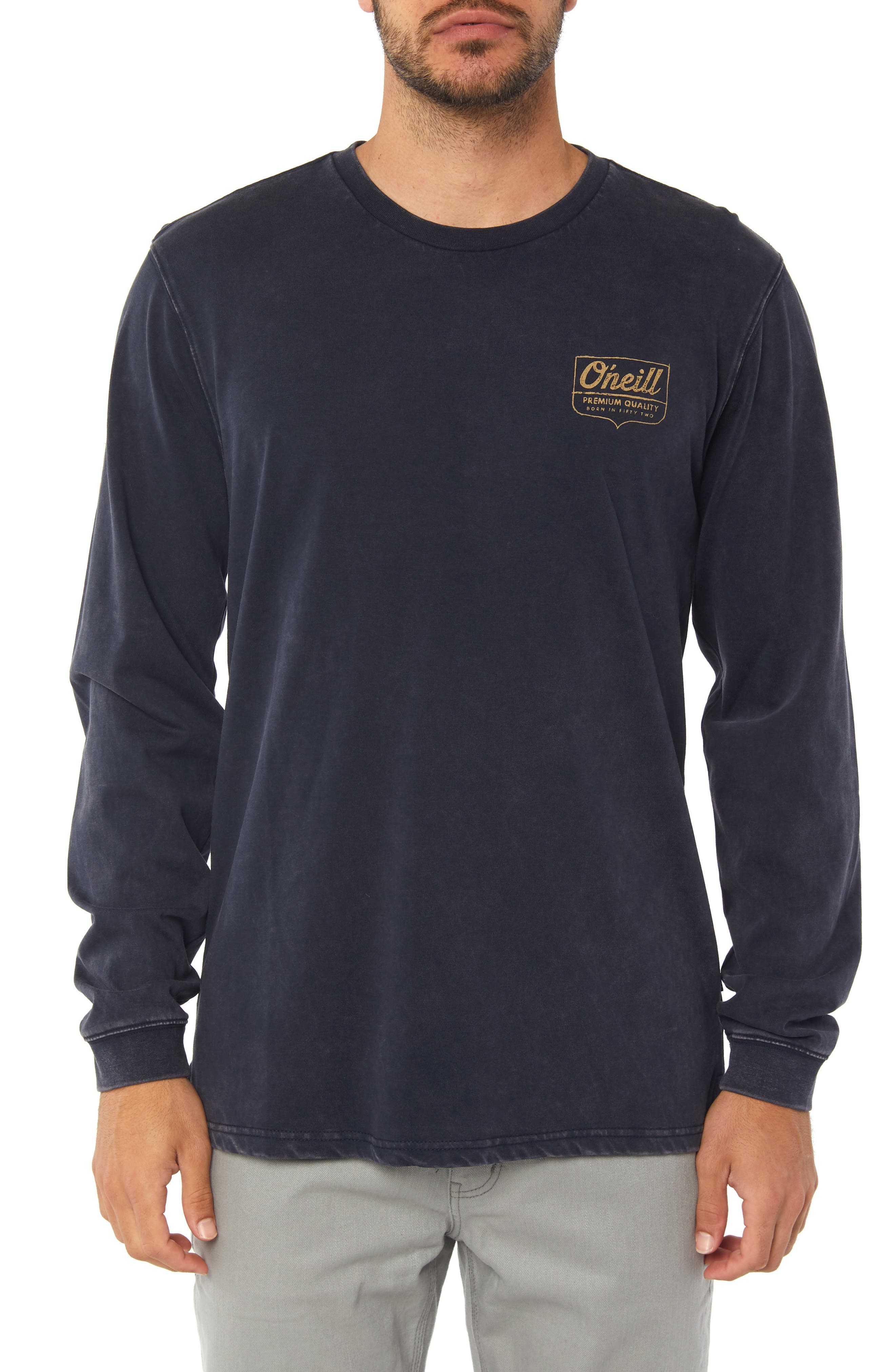 Hayward Long Sleeve T-Shirt,                         Main,                         color, DARK NAVY