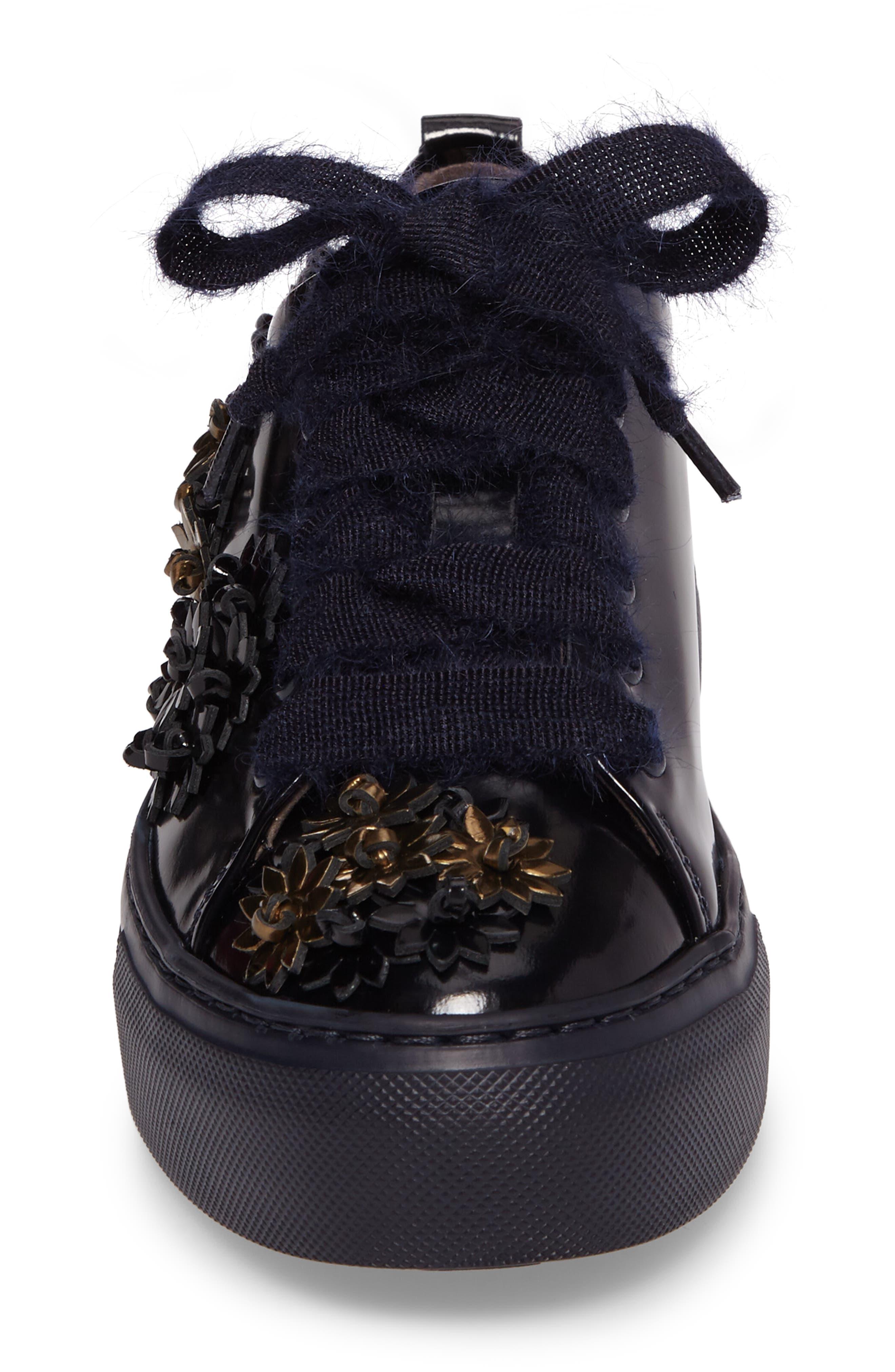 Flower Platform Sneaker,                             Alternate thumbnail 4, color,                             410