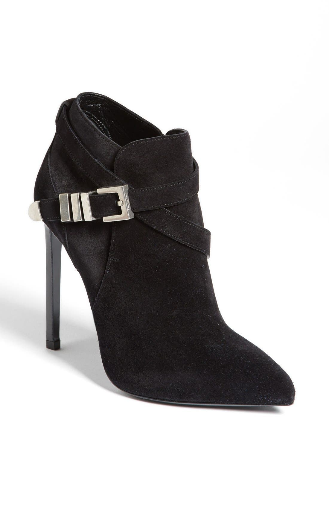SAINT LAURENT,                             'Paris' Buckle Bootie,                             Main thumbnail 1, color,                             001