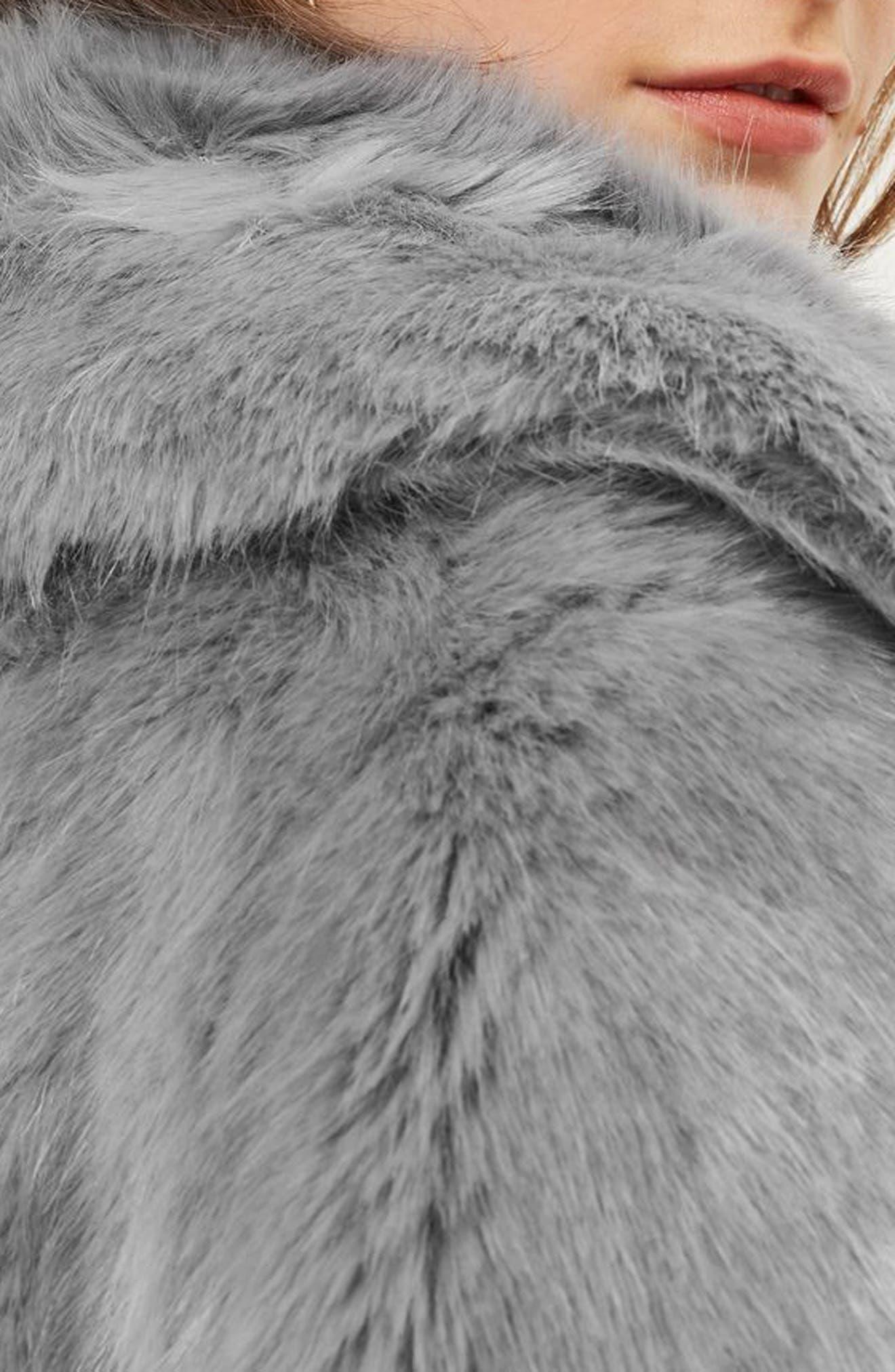 Claire Faux Fur Coat,                             Alternate thumbnail 3, color,                             020