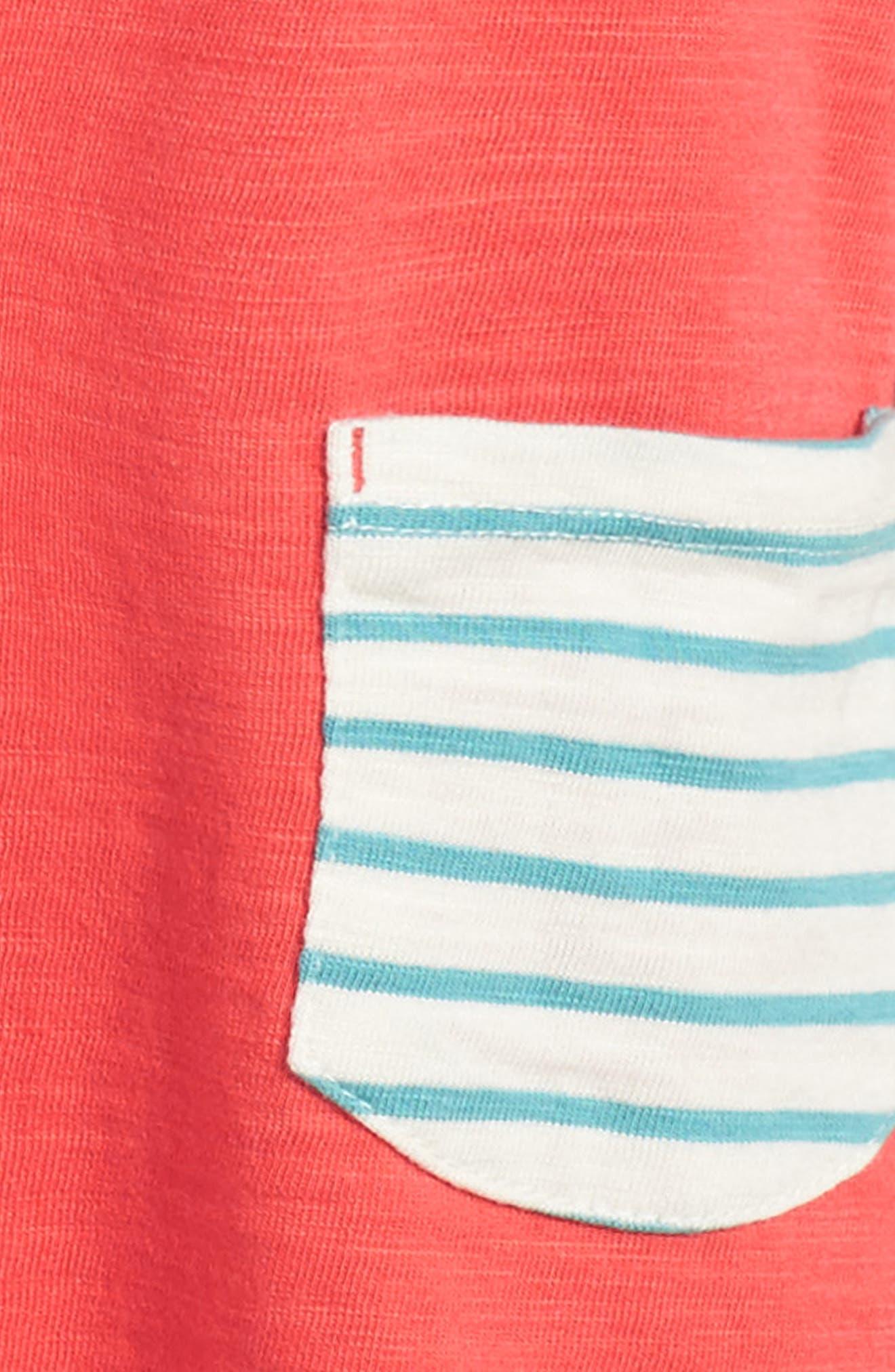 Stripey Jersey Dress,                             Alternate thumbnail 3, color,                             614