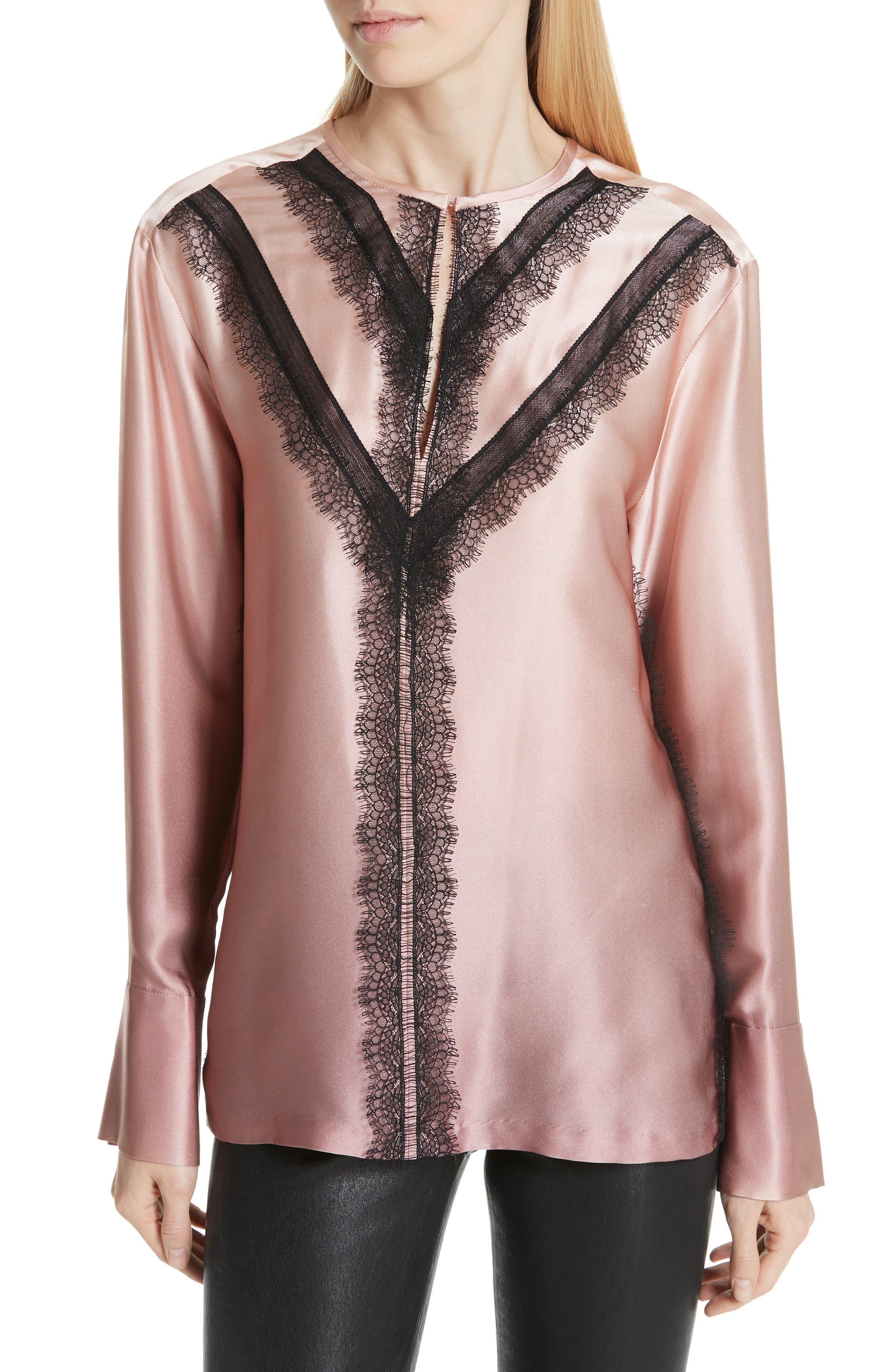 GREY Jason Wu Ombré Silk Shirt,                             Main thumbnail 1, color,                             DESERT ROSE