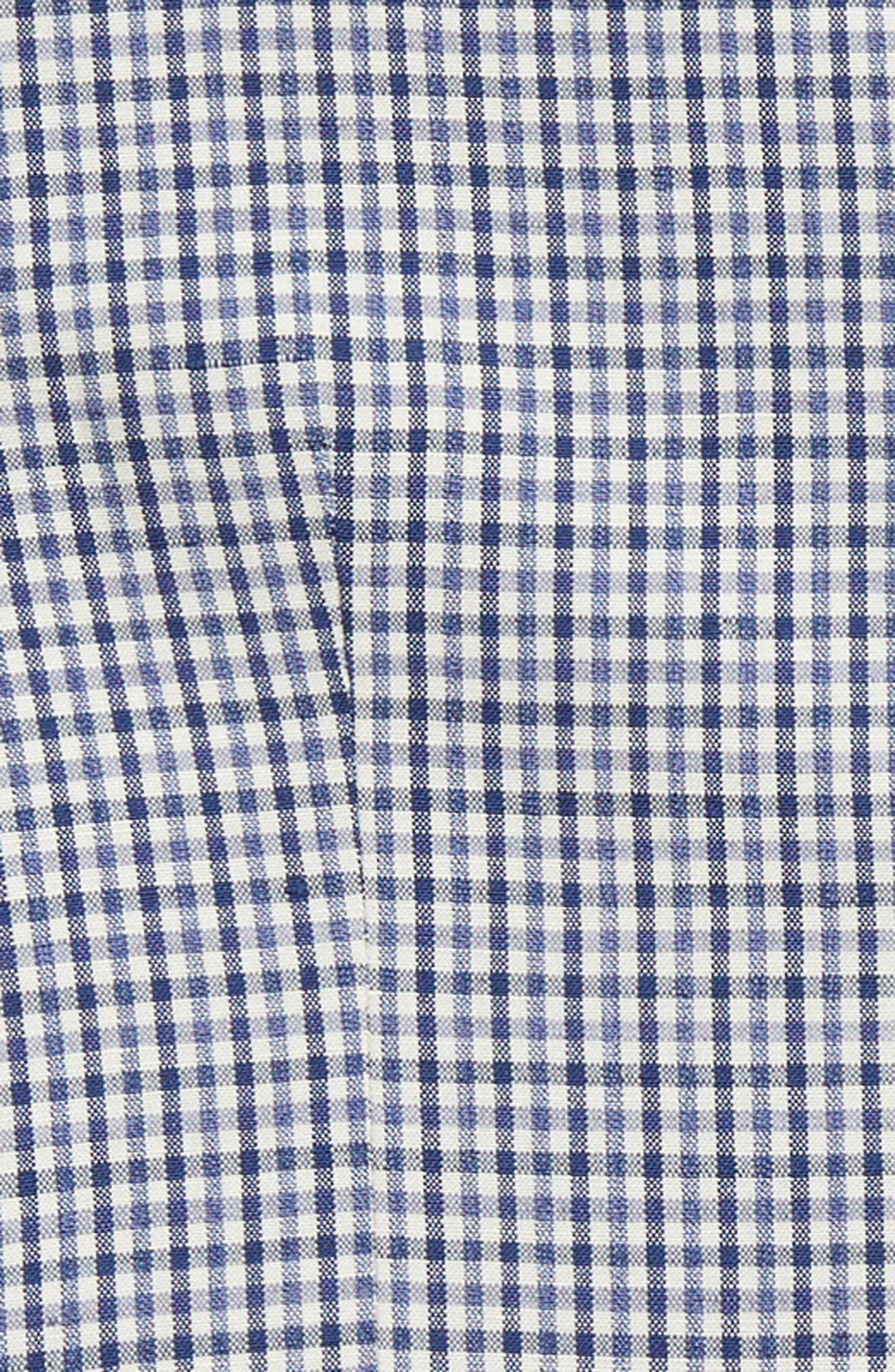 Check Wool Vest,                             Alternate thumbnail 2, color,                             BLUE