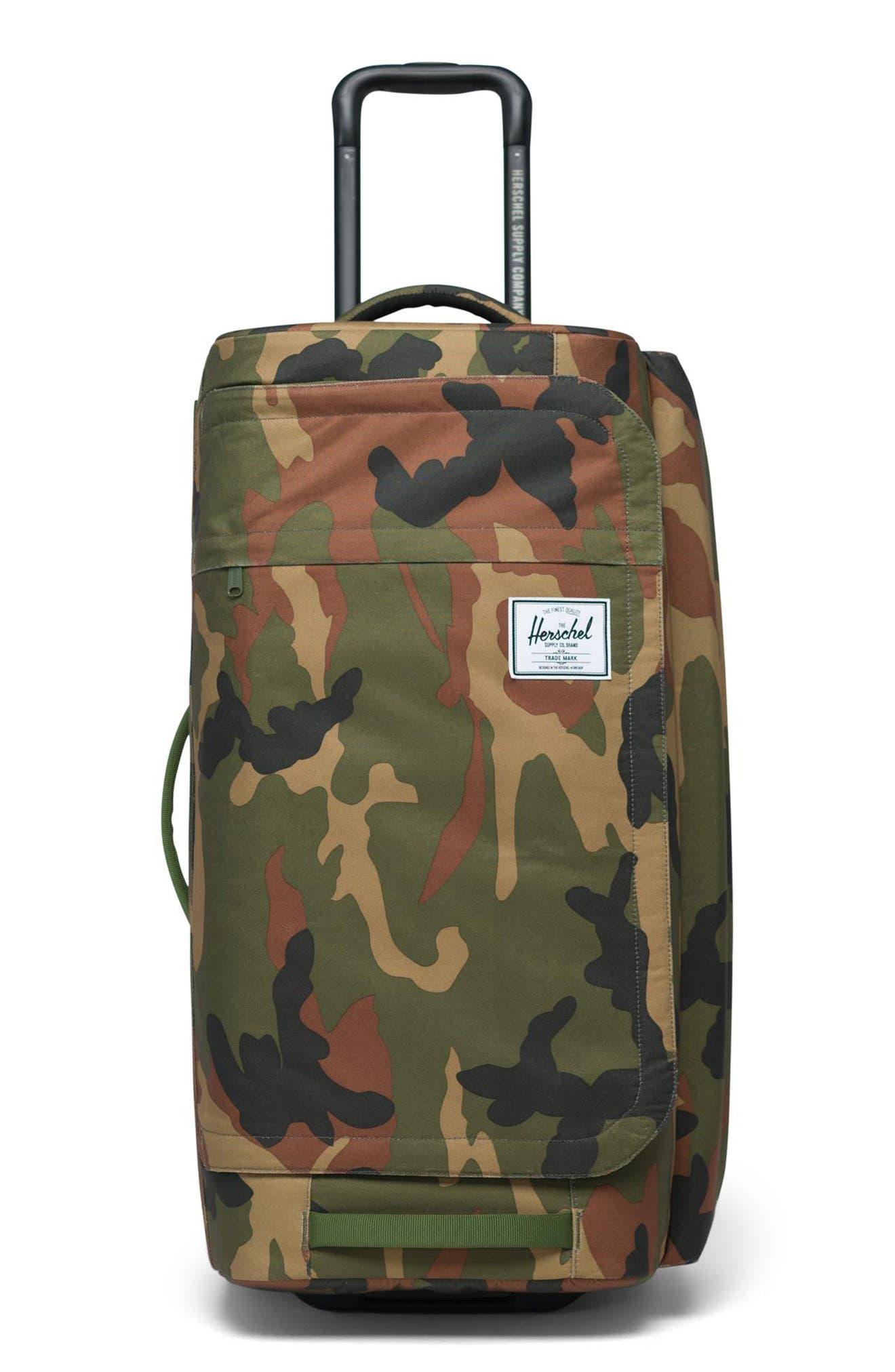 New Arrival. Herschel Supply Co. Wheelie Outfitter 24-Inch Duffel Bag In  Woodland Camo 58de9d3df4