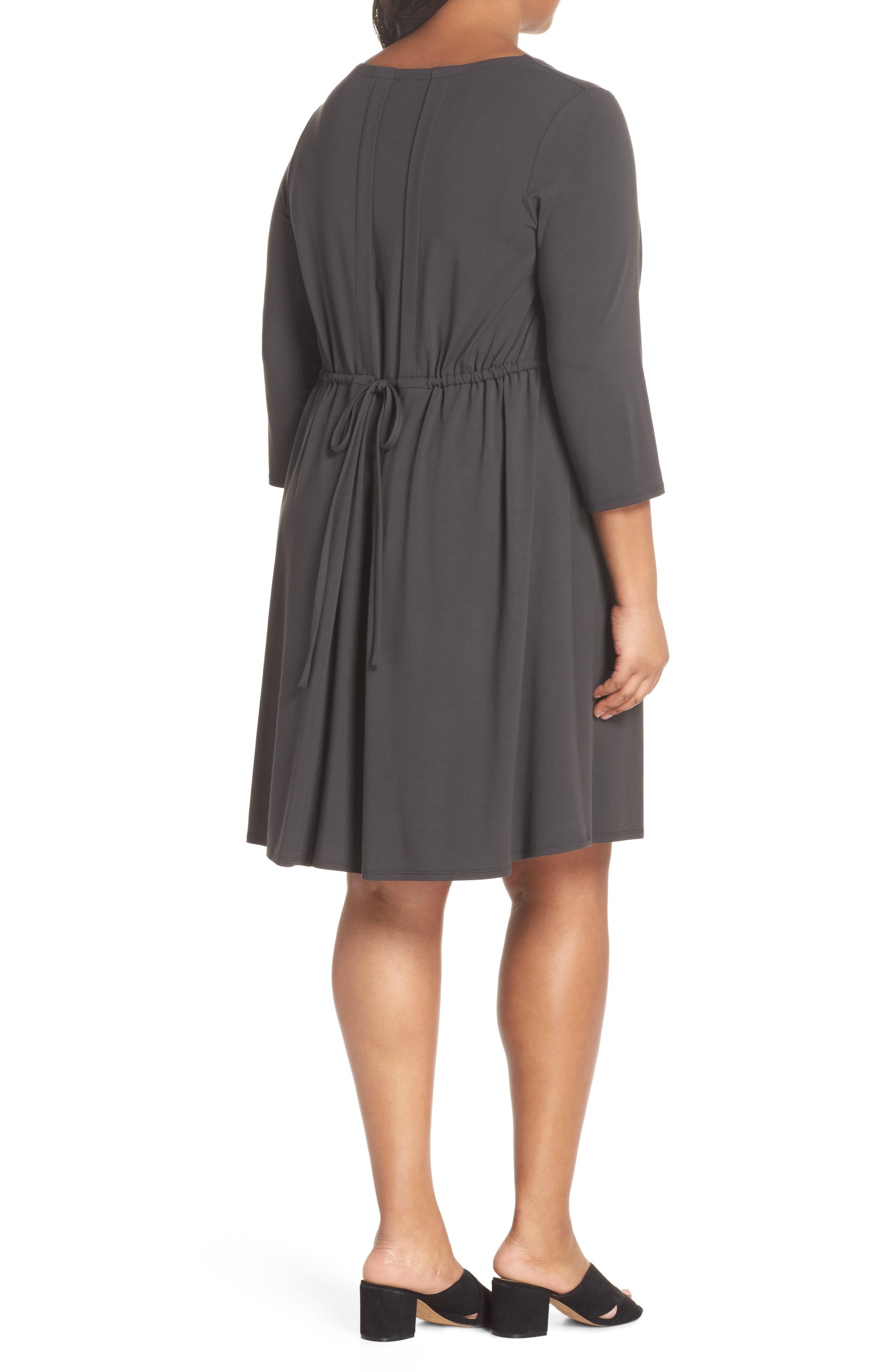 Jewel Neck Tie Back Dress,                             Alternate thumbnail 7, color,