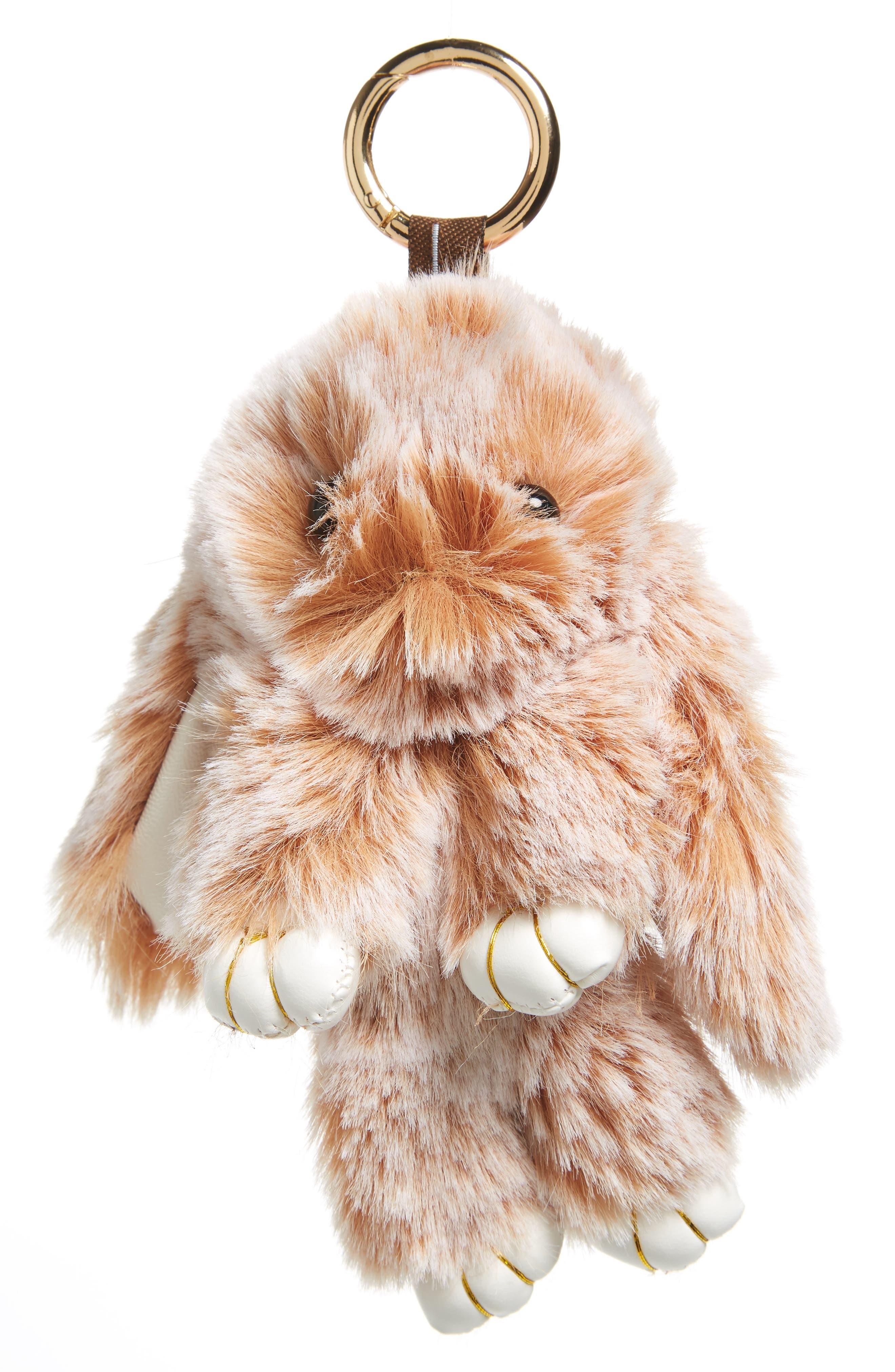 Faux Fur Bunny Rabbit Key Chain,                         Main,                         color, 001