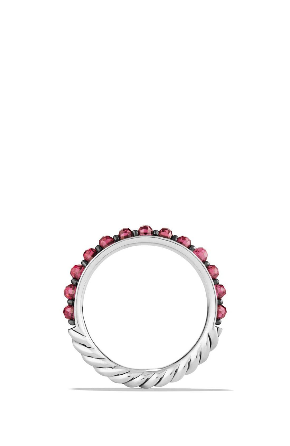 Cable Berries Band Ring,                             Alternate thumbnail 2, color,                             RHODALITE