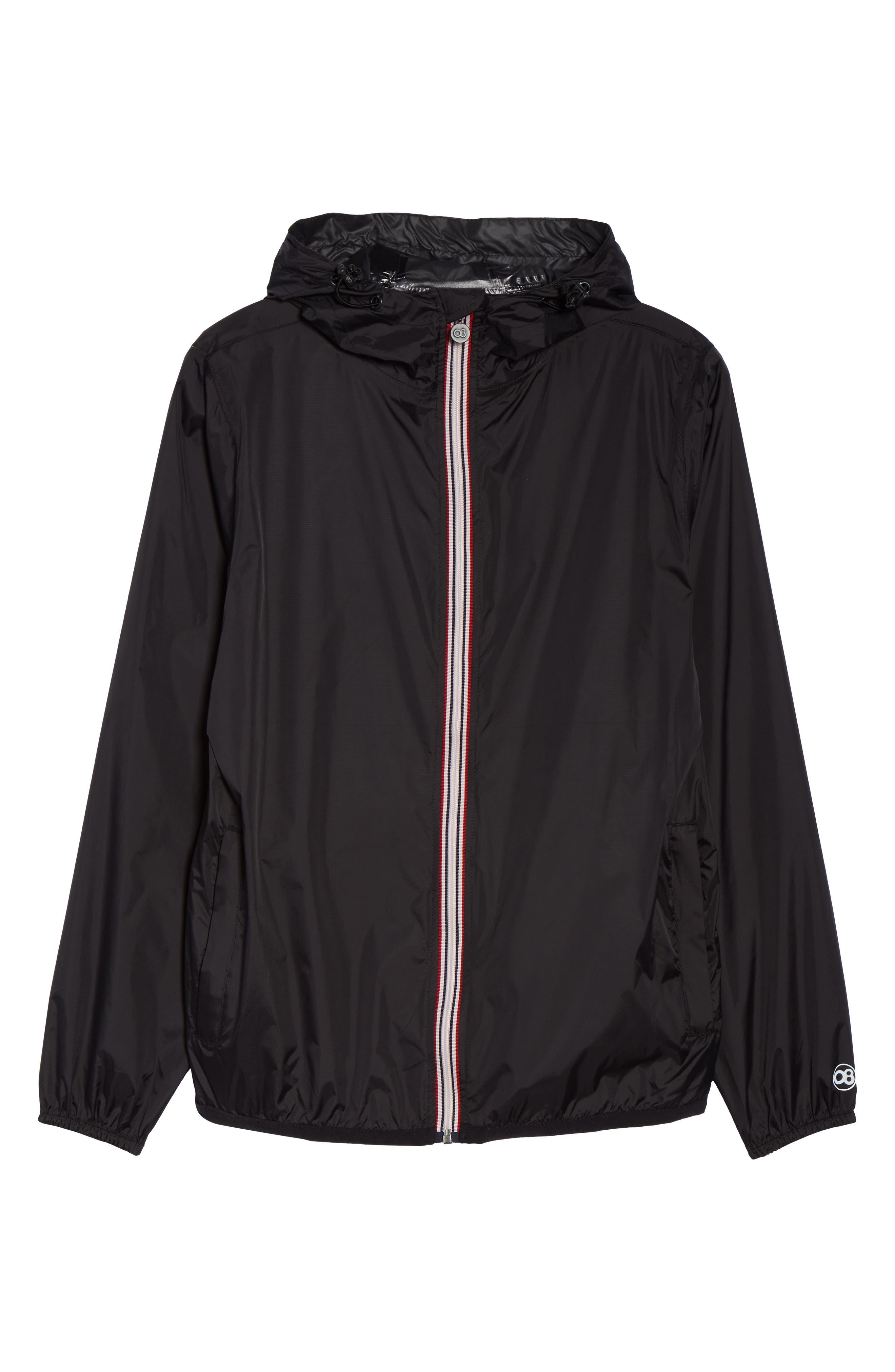 Packable Rain Jacket,                             Alternate thumbnail 7, color,                             BLACK