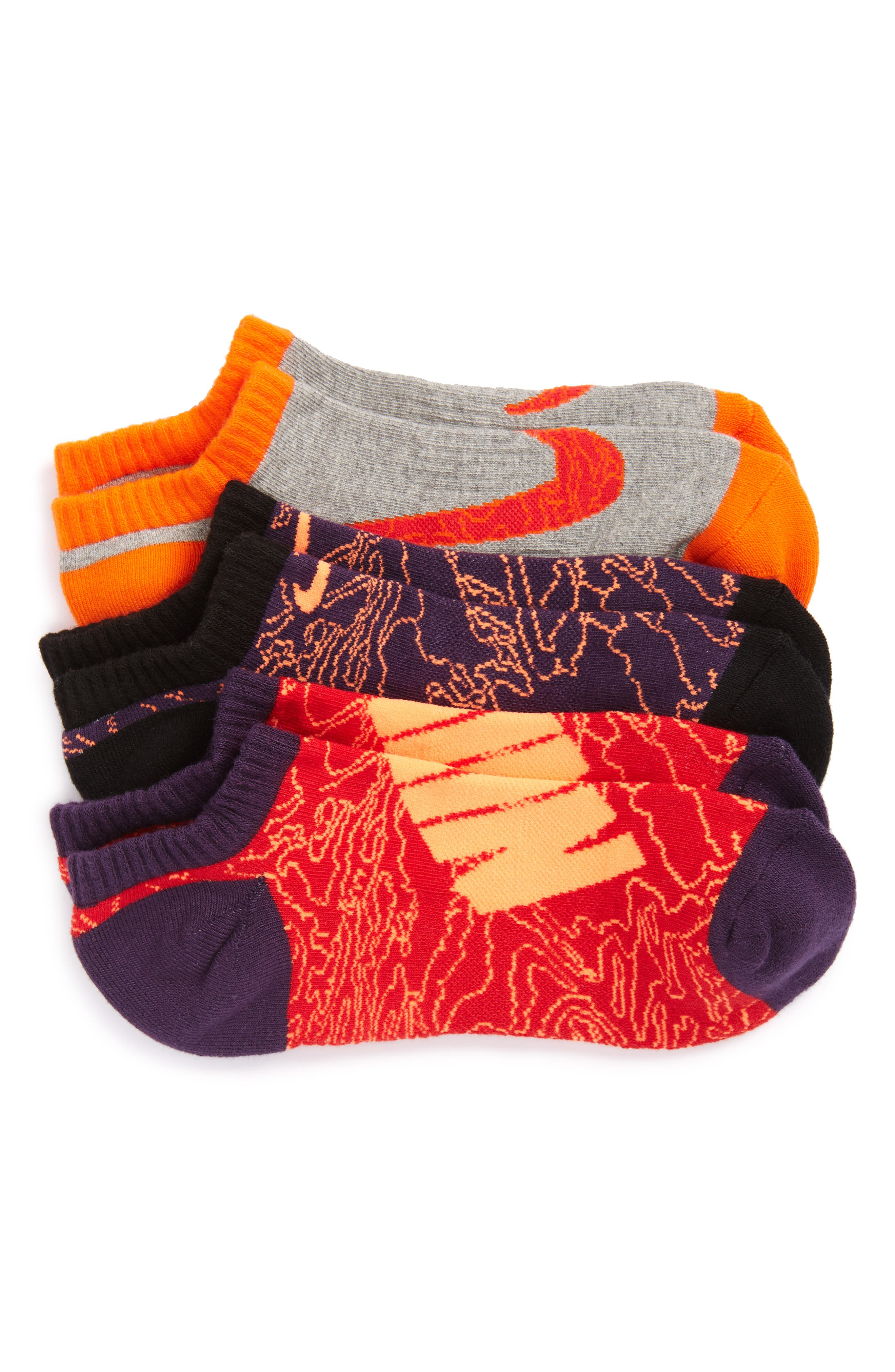 Performance 3-Pack No-Show Socks,                             Alternate thumbnail 6, color,