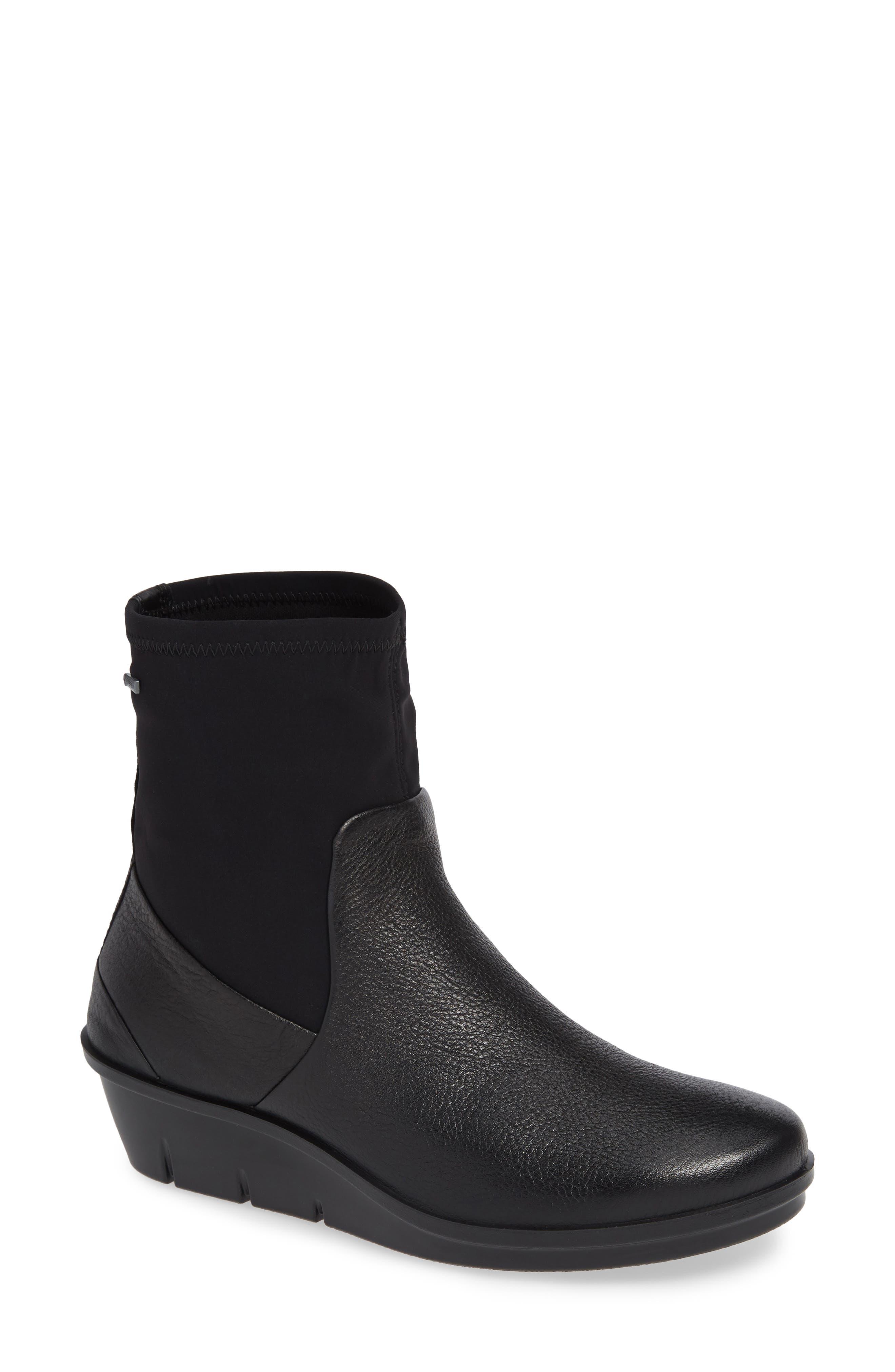 Ecco Skyler Gore-Tex Sock Bootie, Black