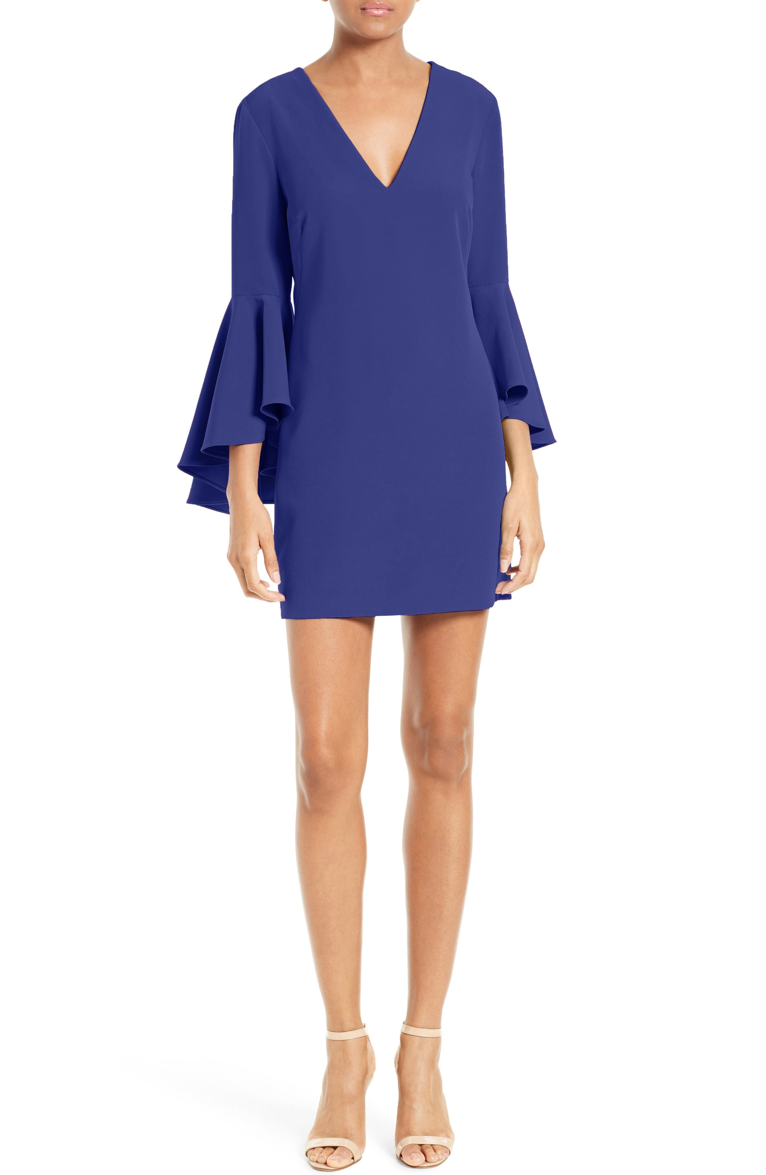 Nicole Bell Sleeve Dress,                             Main thumbnail 10, color,