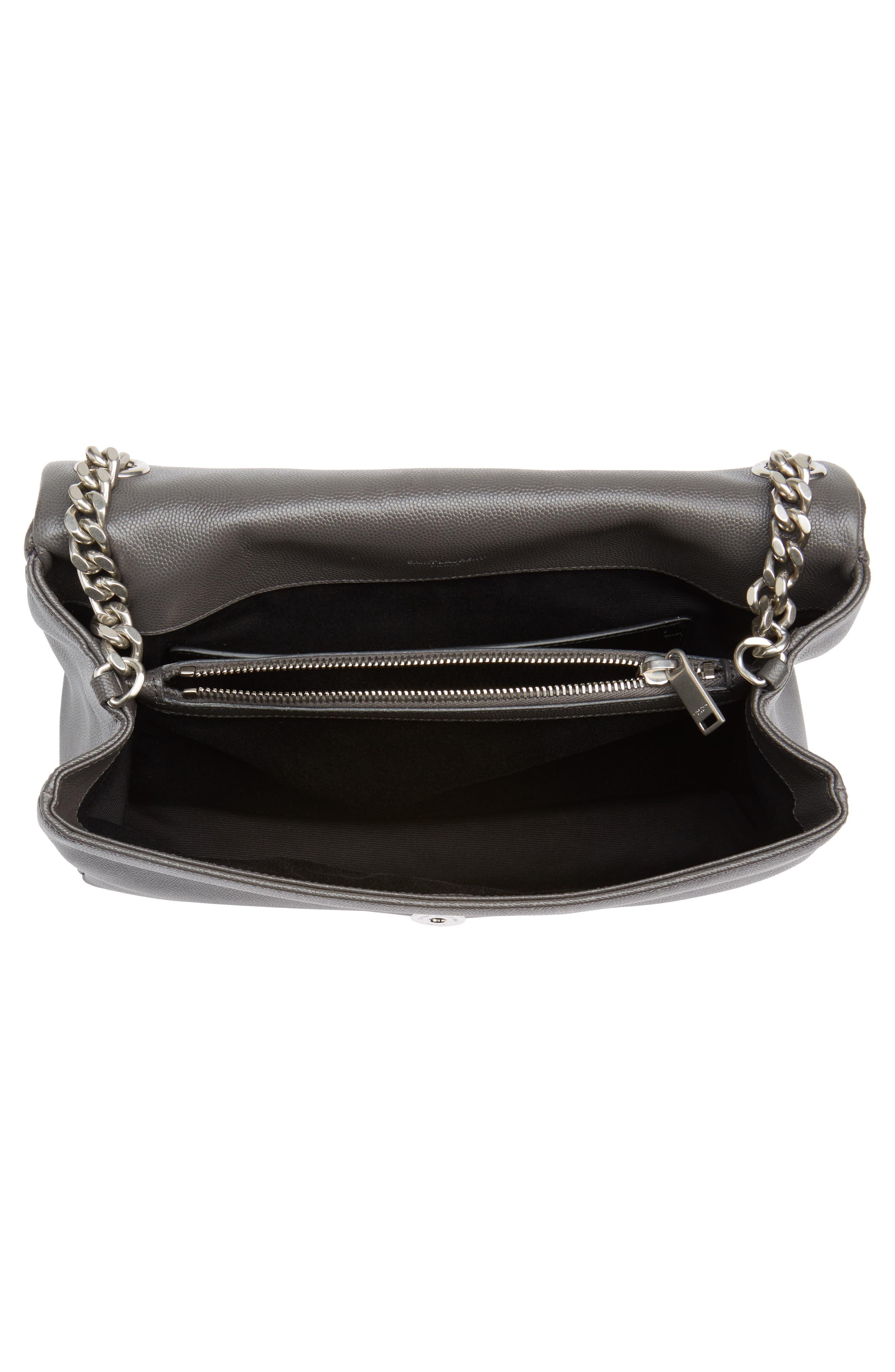 Medium West Hollywood Leather Shoulder Bag,                             Alternate thumbnail 4, color,                             064