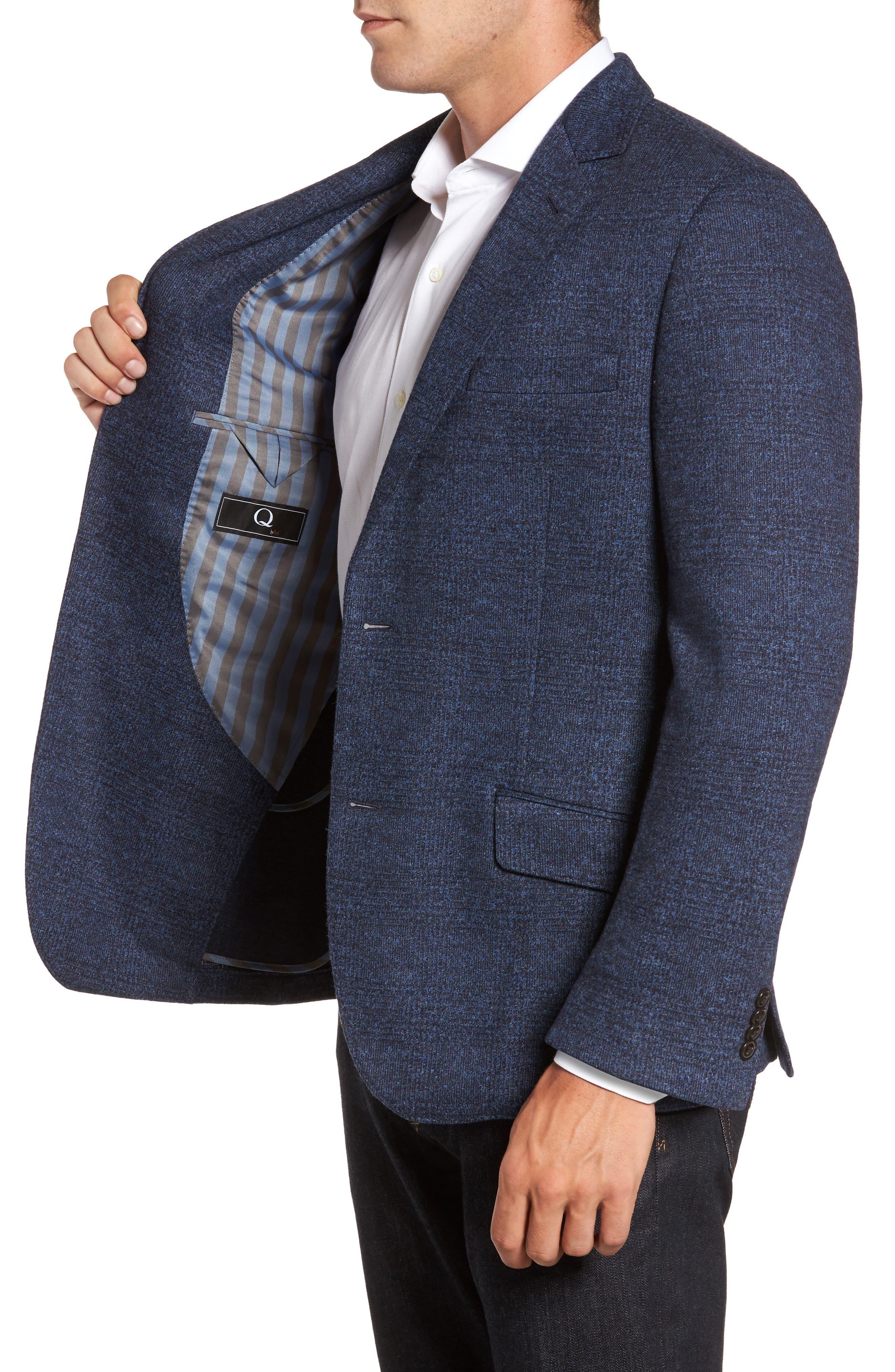 Classic Fit Cotton & Wool Jersey Sport Coat,                             Alternate thumbnail 3, color,