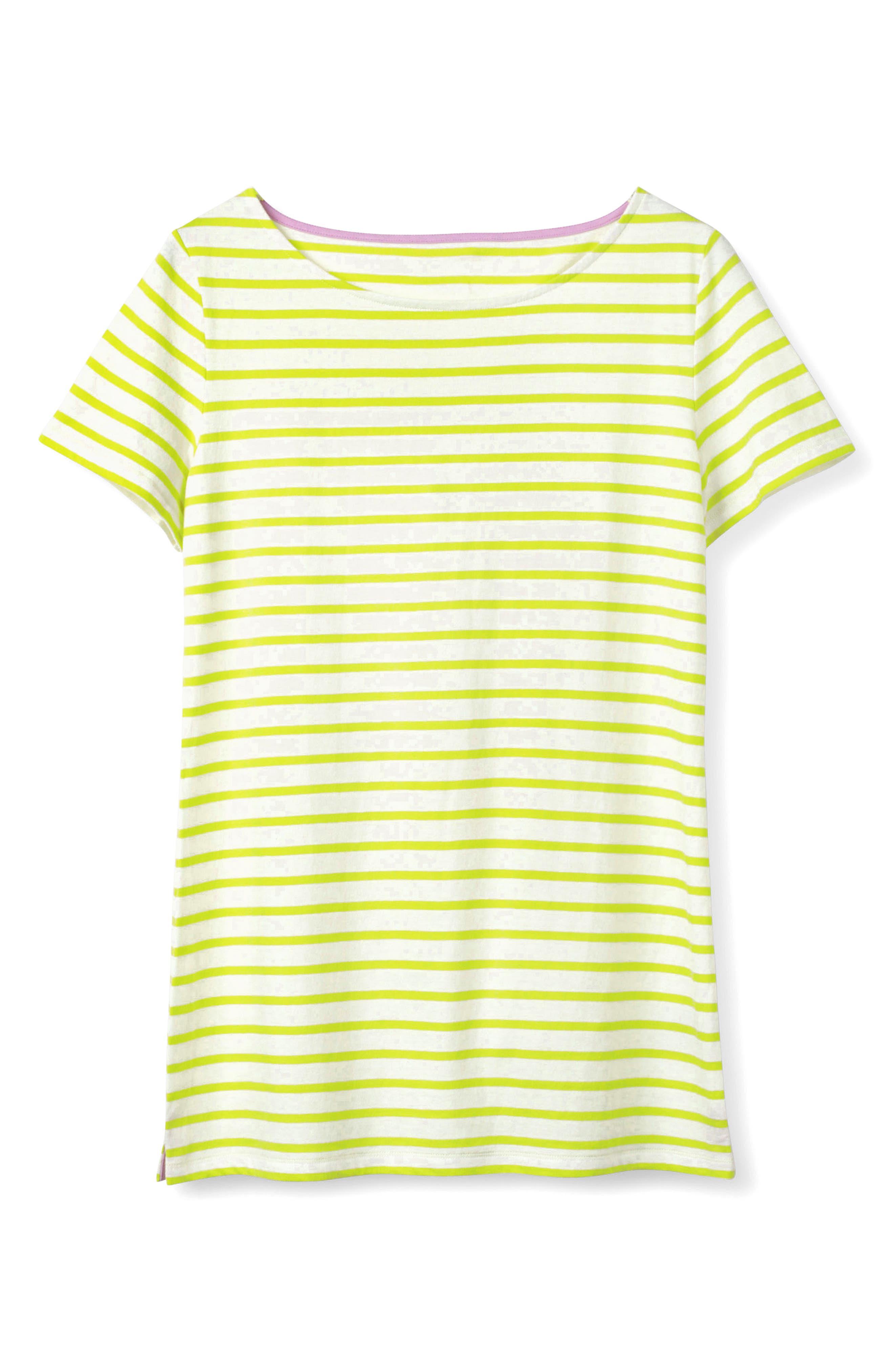 Breton Short Sleeve Stripe Cotton Top,                             Alternate thumbnail 19, color,