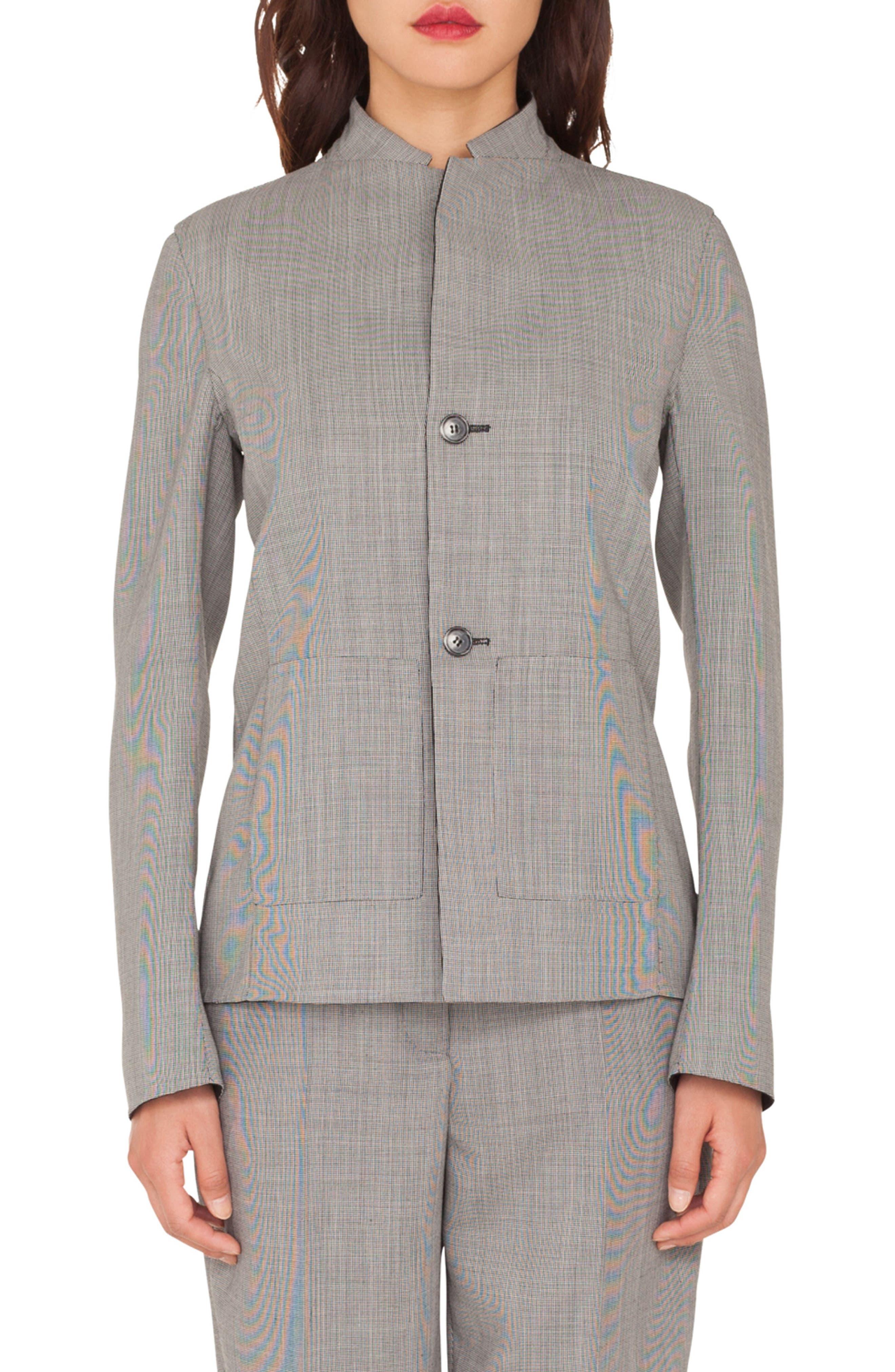 Reversible Double Face Wool Blend Blazer,                             Main thumbnail 1, color,                             983 BLACK-PAPER