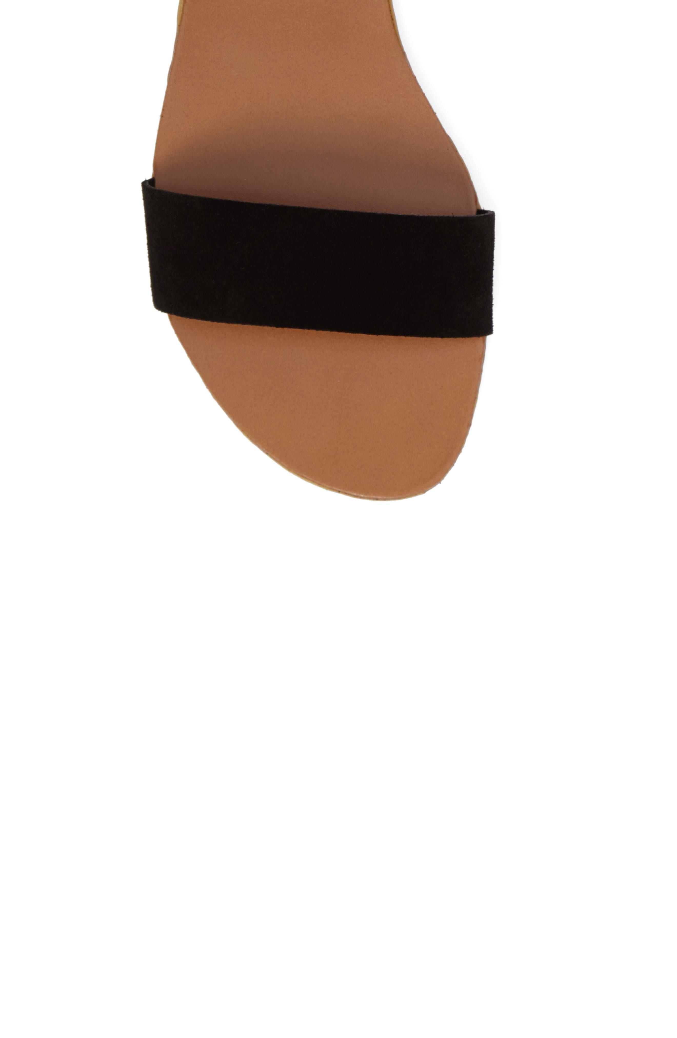 Kapri Wraparound Lace Sandal,                             Alternate thumbnail 5, color,                             006