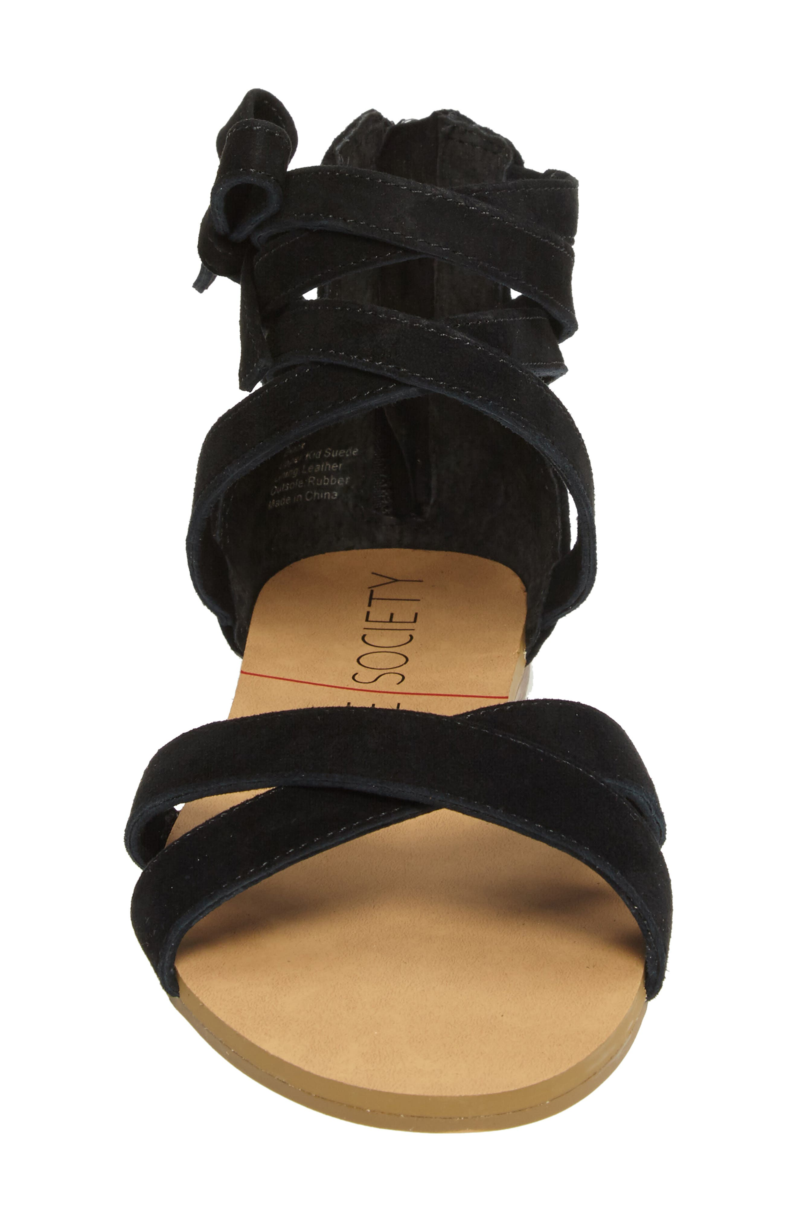 Sana Wraparound Sandal,                             Alternate thumbnail 4, color,                             003