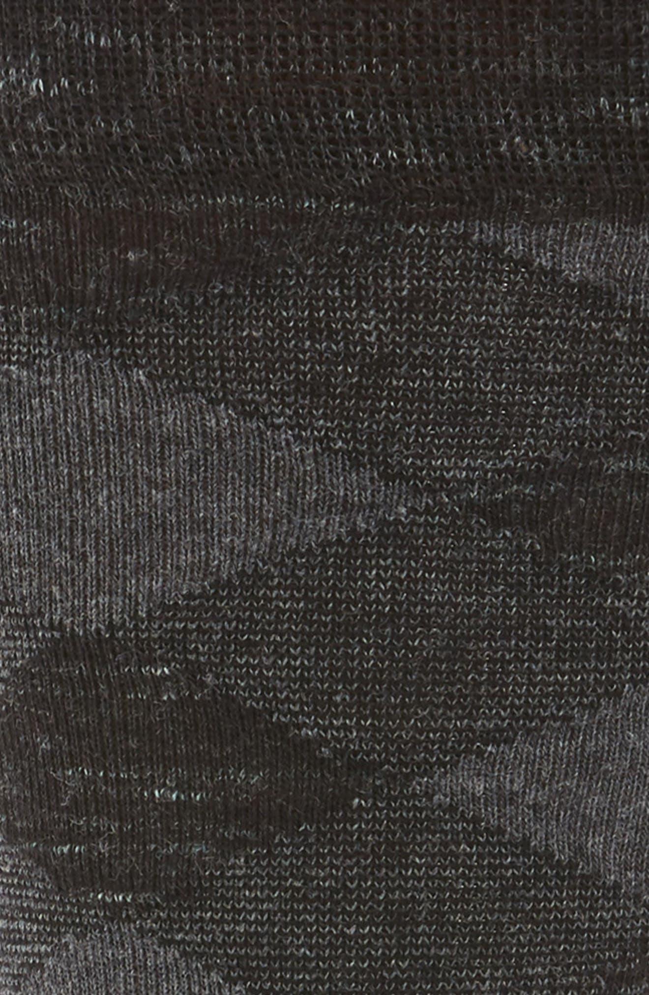 Twist Plaid Socks,                             Alternate thumbnail 2, color,                             BLACK